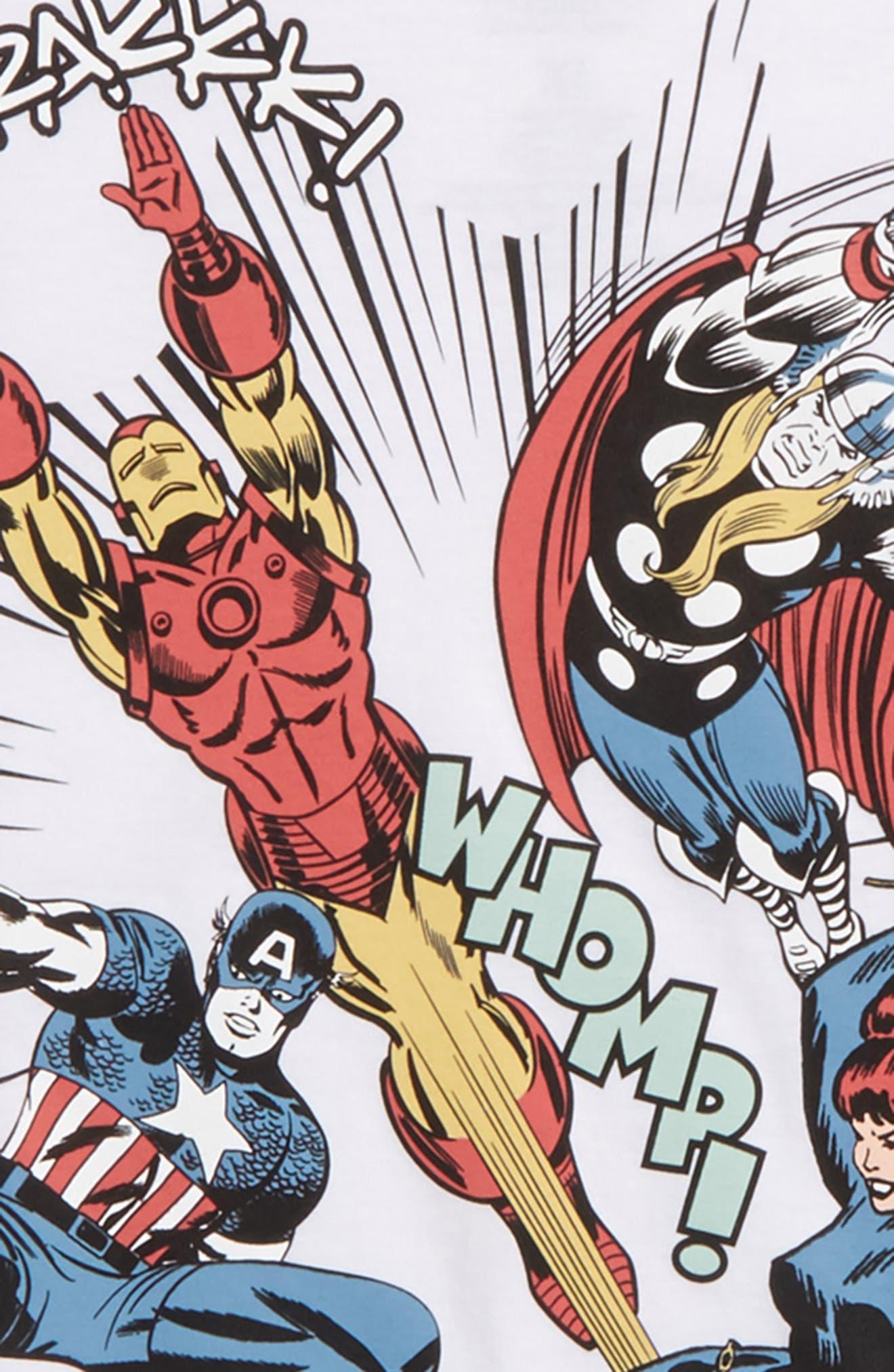 Avengers Oversided Action T-Shirt,                             Alternate thumbnail 2, color,                             100