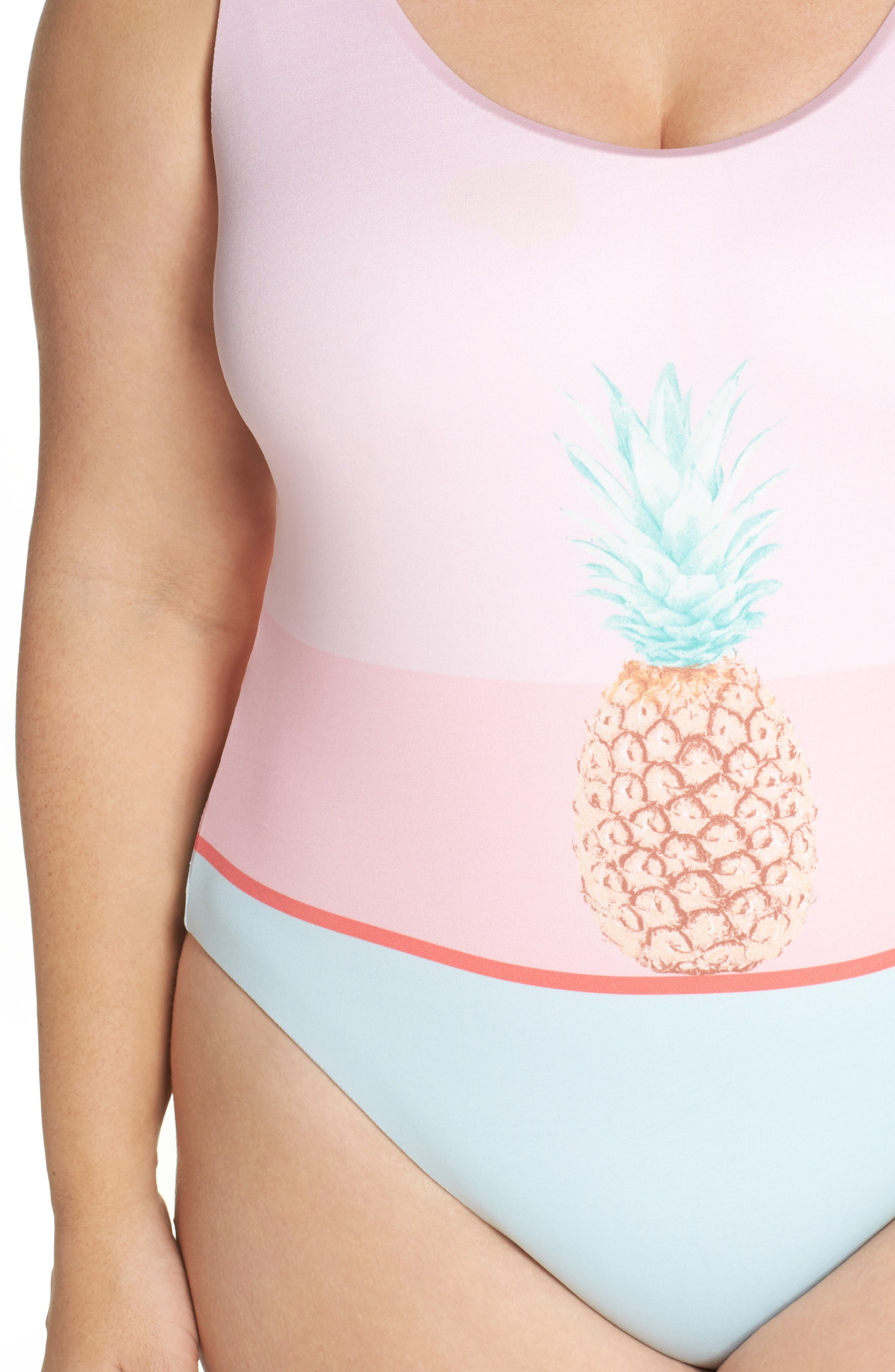 Pop Art One-Piece Swimsuit,                             Alternate thumbnail 4, color,                             650