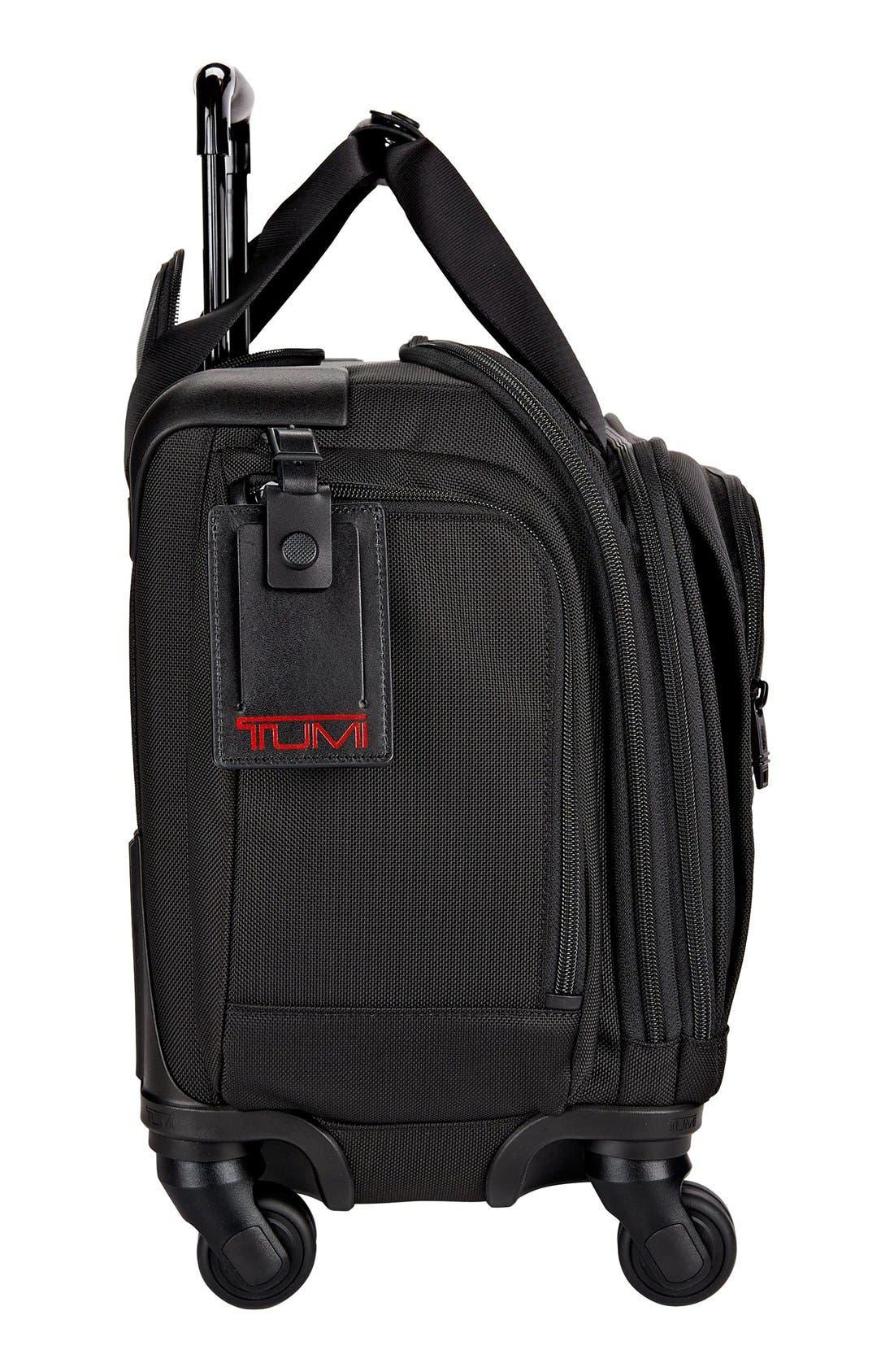 Alpha 2 20-Inch Wheeled Duffel Bag,                             Alternate thumbnail 6, color,                             BLACK