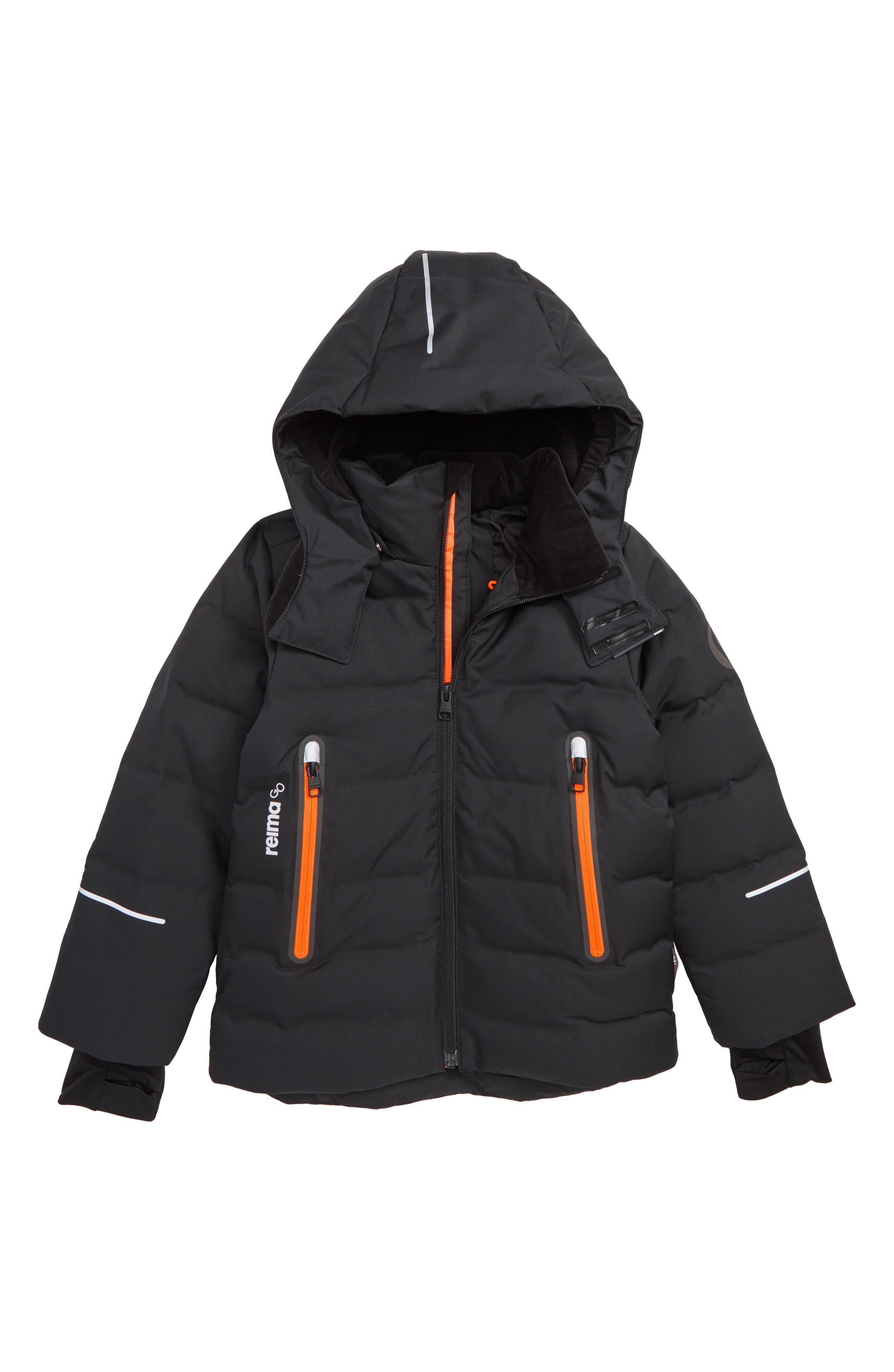 Wakeup Reimatec<sup>®</sup> Down & Feather Jacket,                         Main,                         color, BLACK