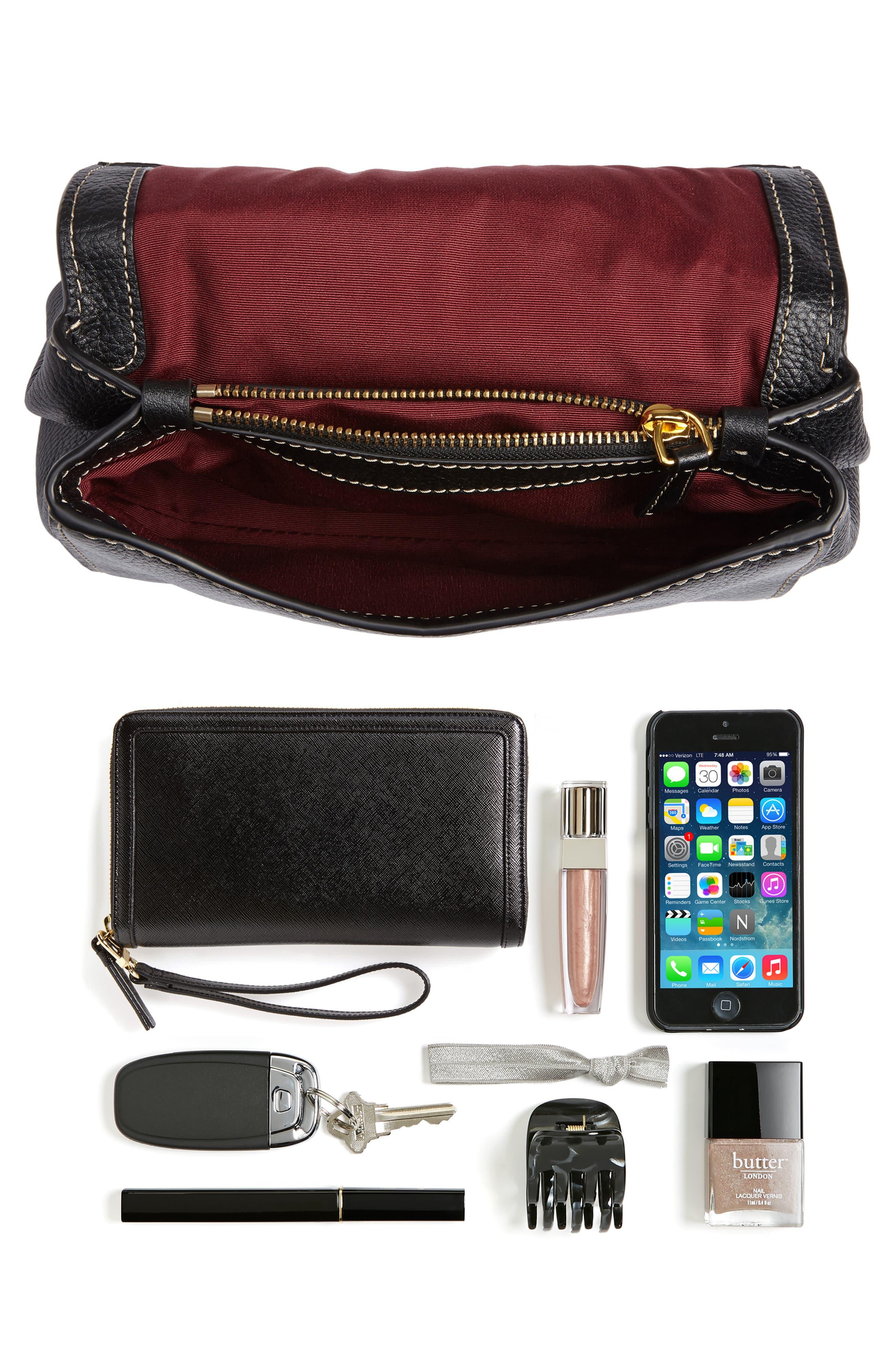 Mini The Boho Grind Leather Shoulder Bag,                             Alternate thumbnail 7, color,                             014