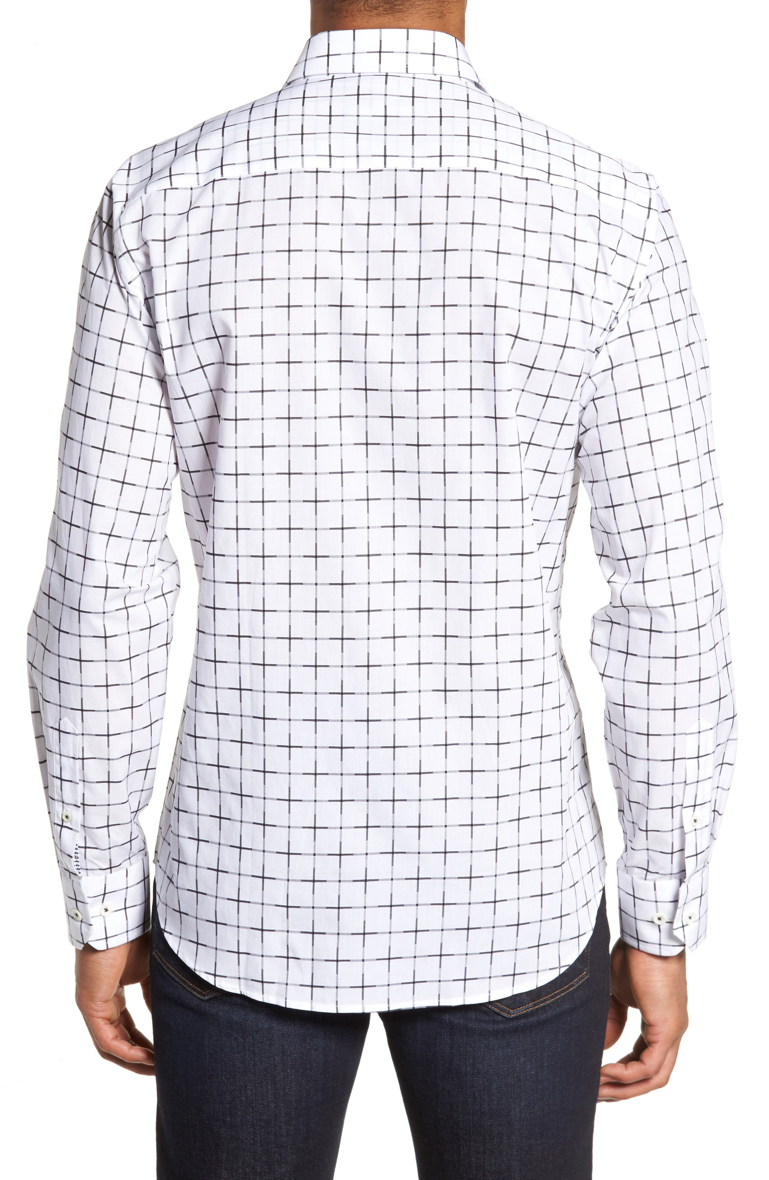 Shaped Fit Print Sport Shirt,                             Alternate thumbnail 2, color,                             100