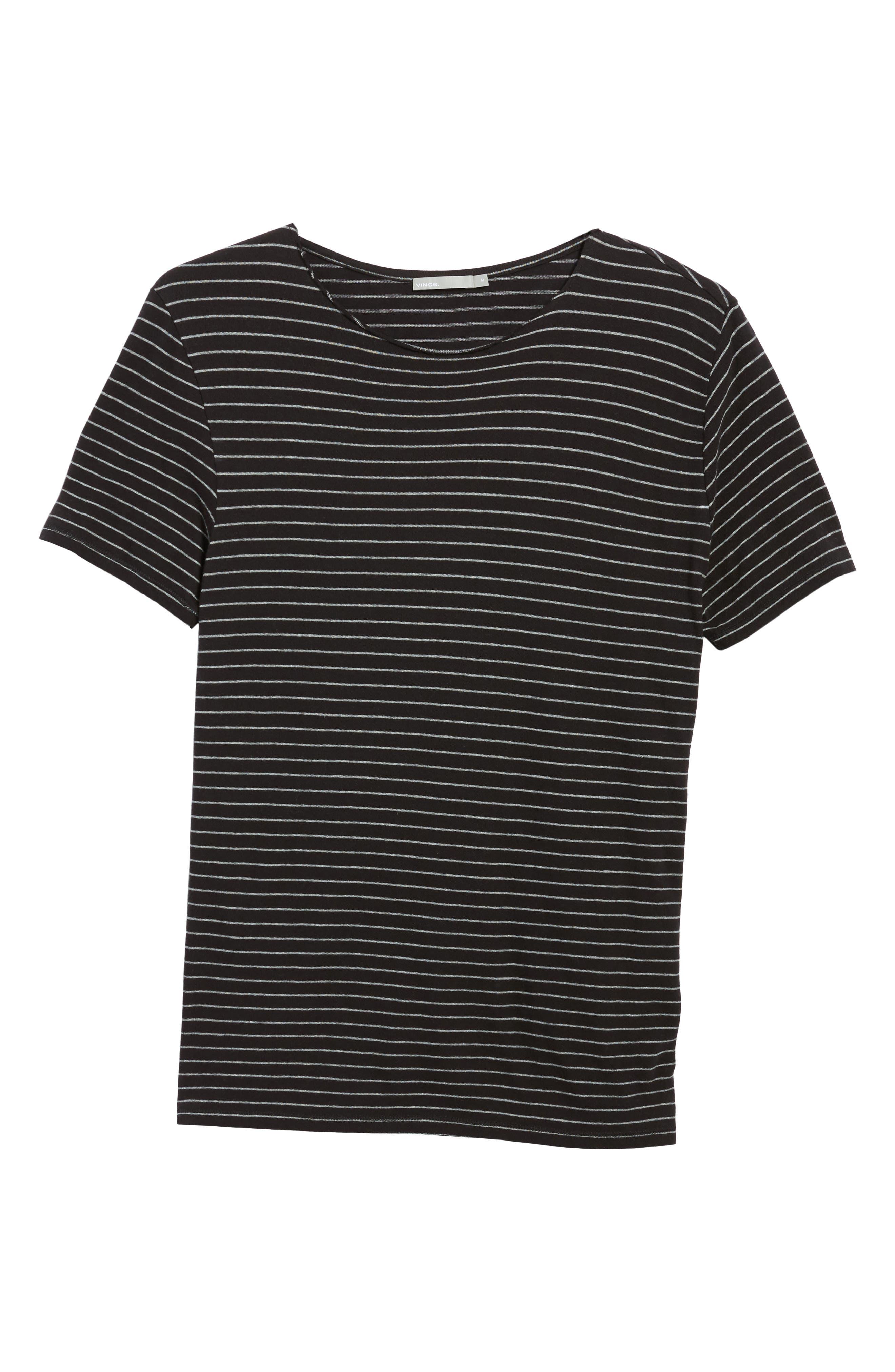 Raw Edge Stripe T-Shirt,                             Alternate thumbnail 6, color,                             002