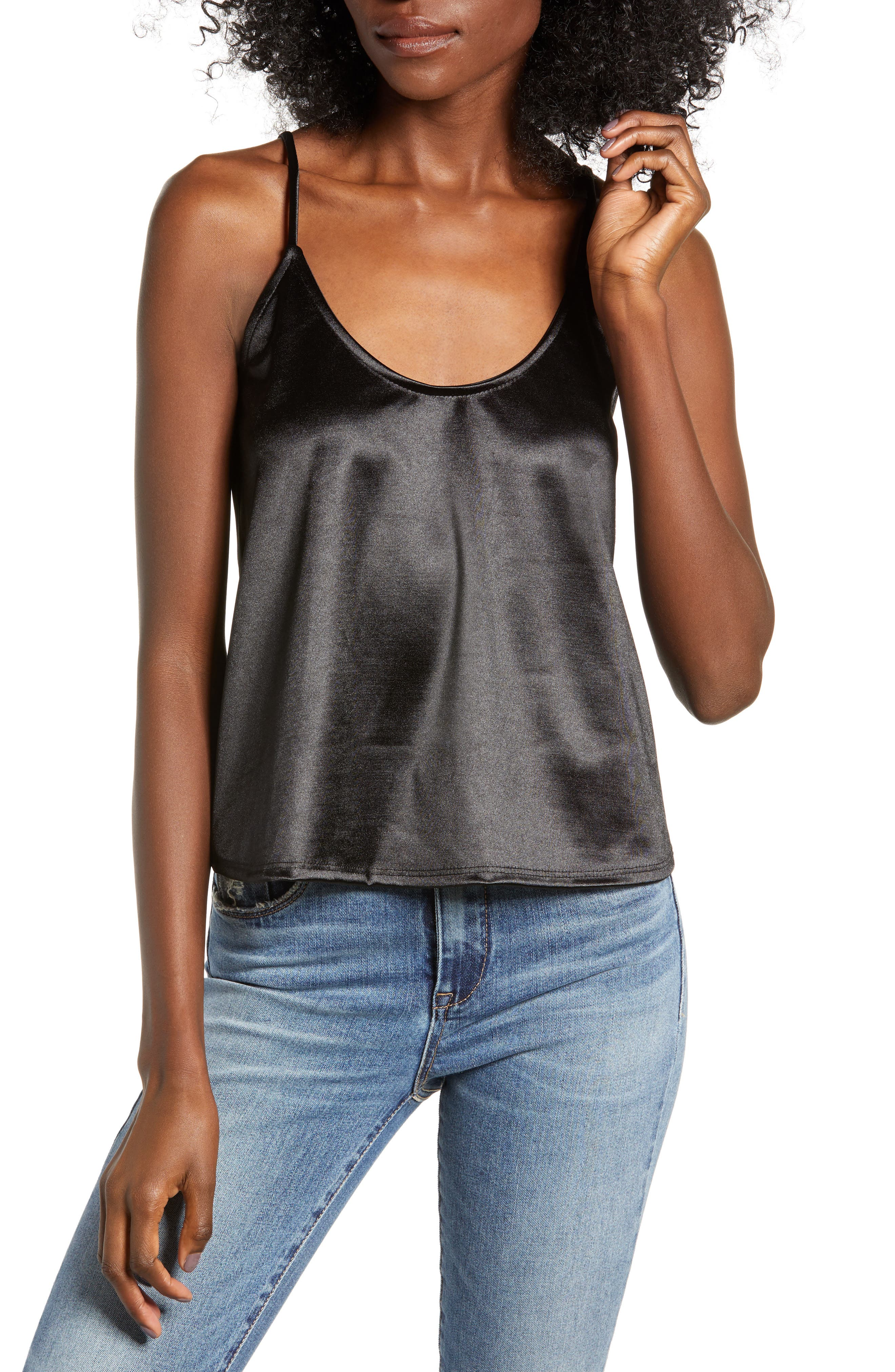 Everyday Camisole,                         Main,                         color, BLACK