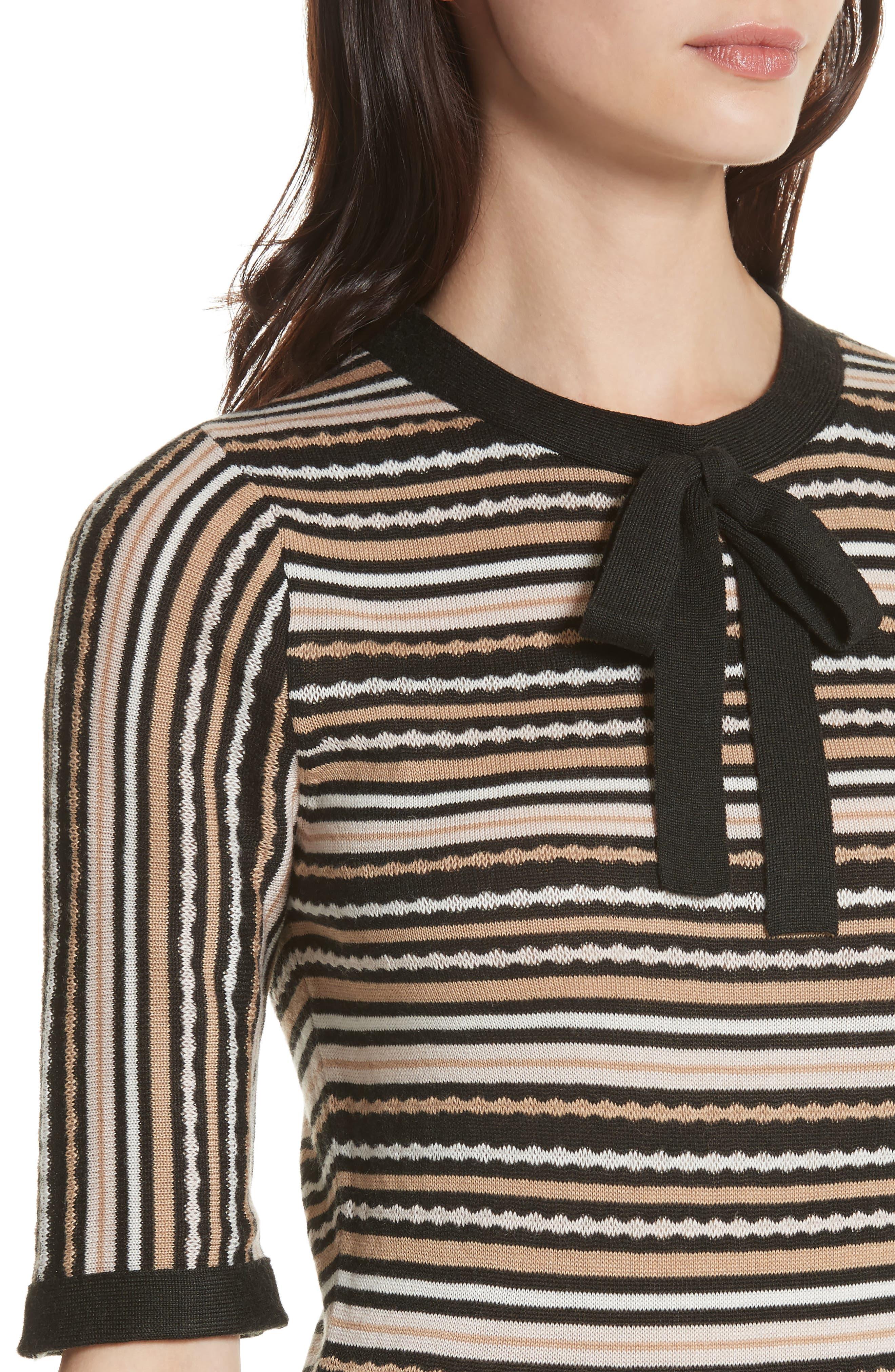 stripe sweater dress,                             Alternate thumbnail 4, color,                             677