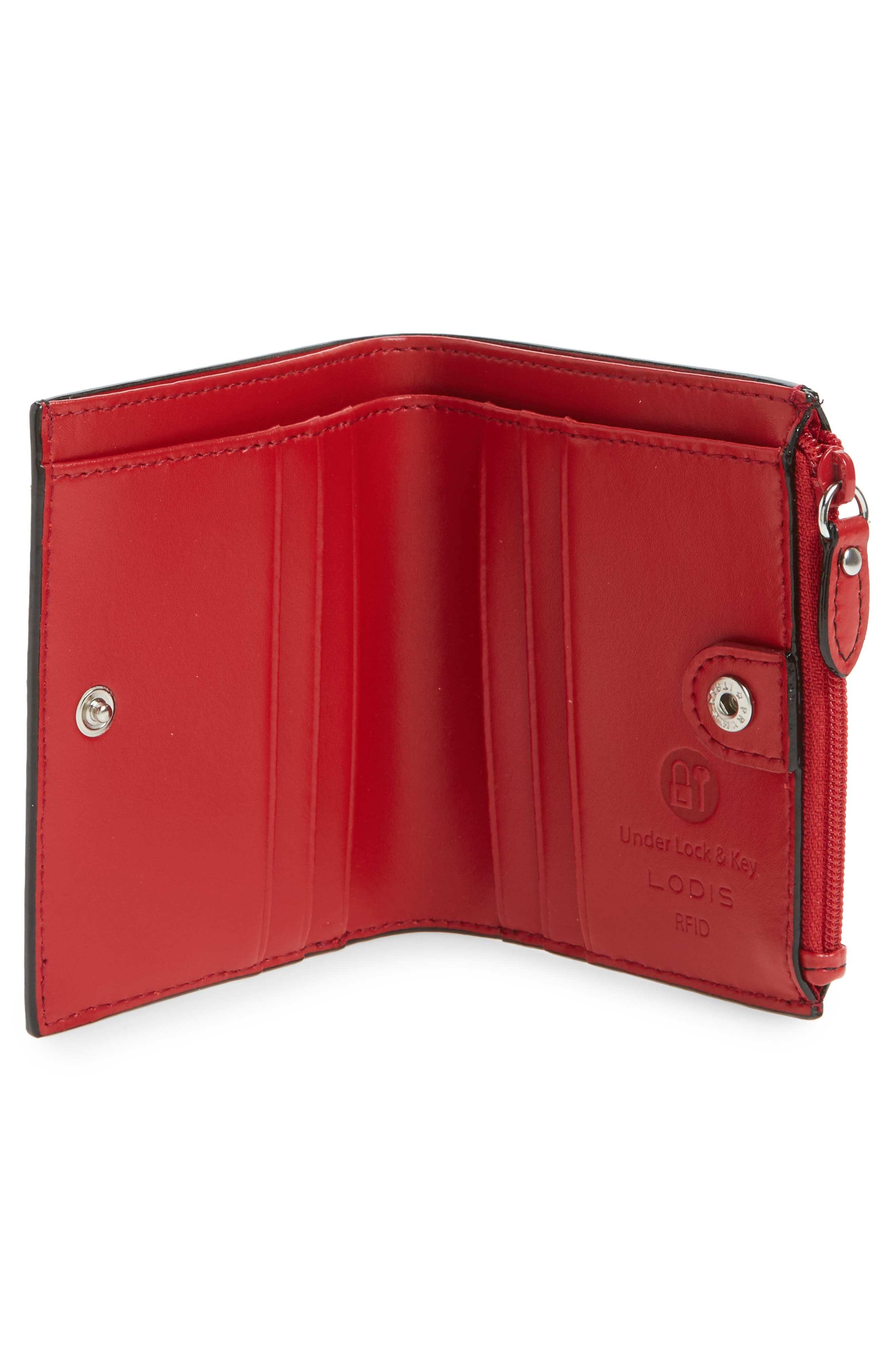 Audrey Under Lock & Key Aldis Leather Wallet,                             Alternate thumbnail 6, color,