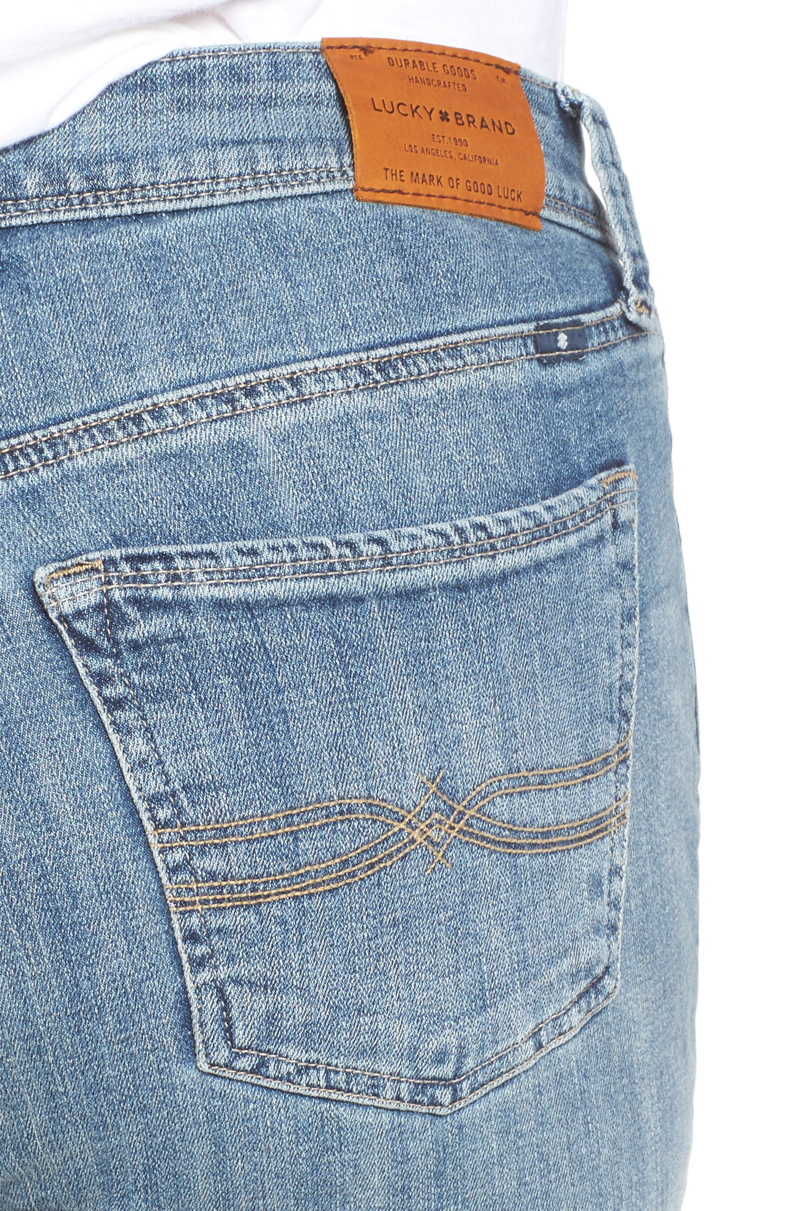 Reese Distressed Stretch Boyfriend Jeans,                             Alternate thumbnail 4, color,                             420