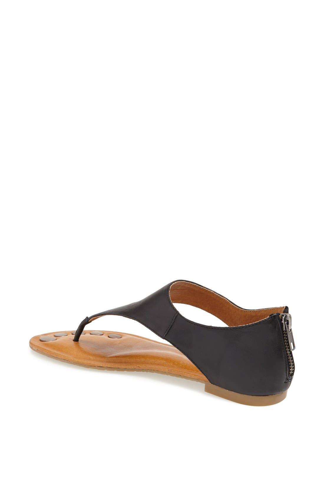 'Luna' Metallic Leather Thong Sandal,                             Alternate thumbnail 2, color,                             010
