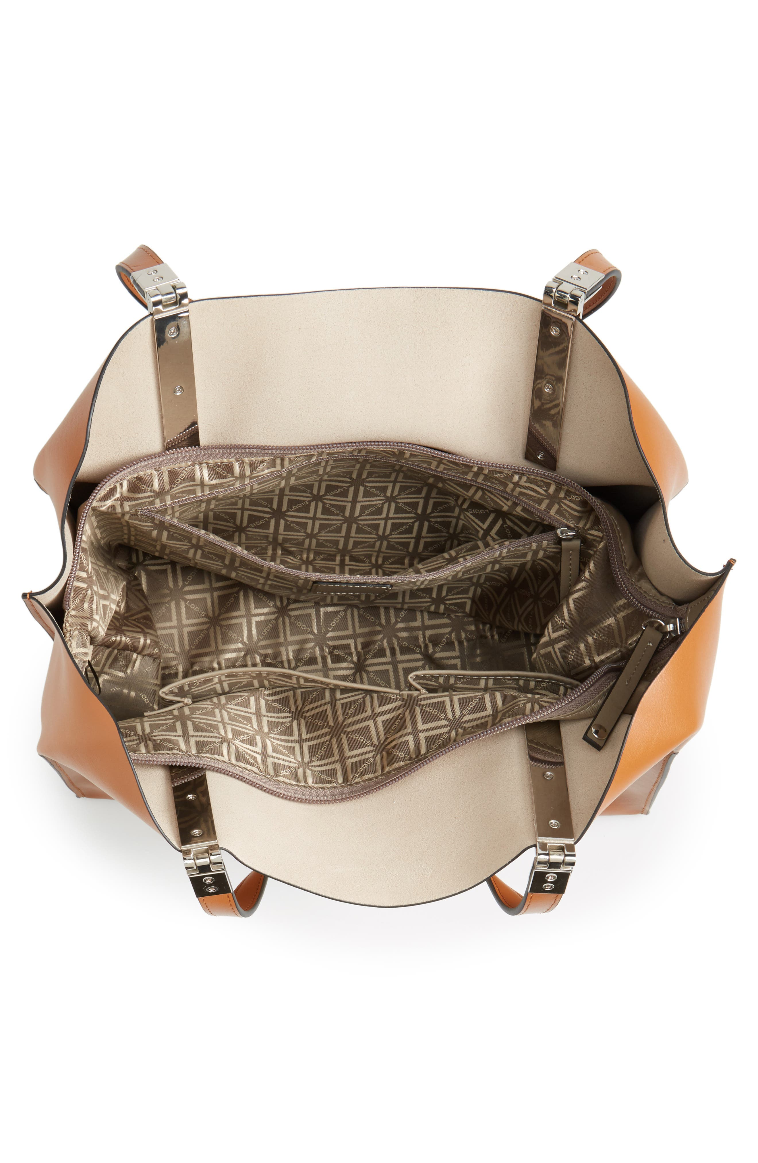 LODIS Silicon Valley Collection Under Lock & Key - Anita RFID East/West Leather Satchel,                             Alternate thumbnail 11, color,