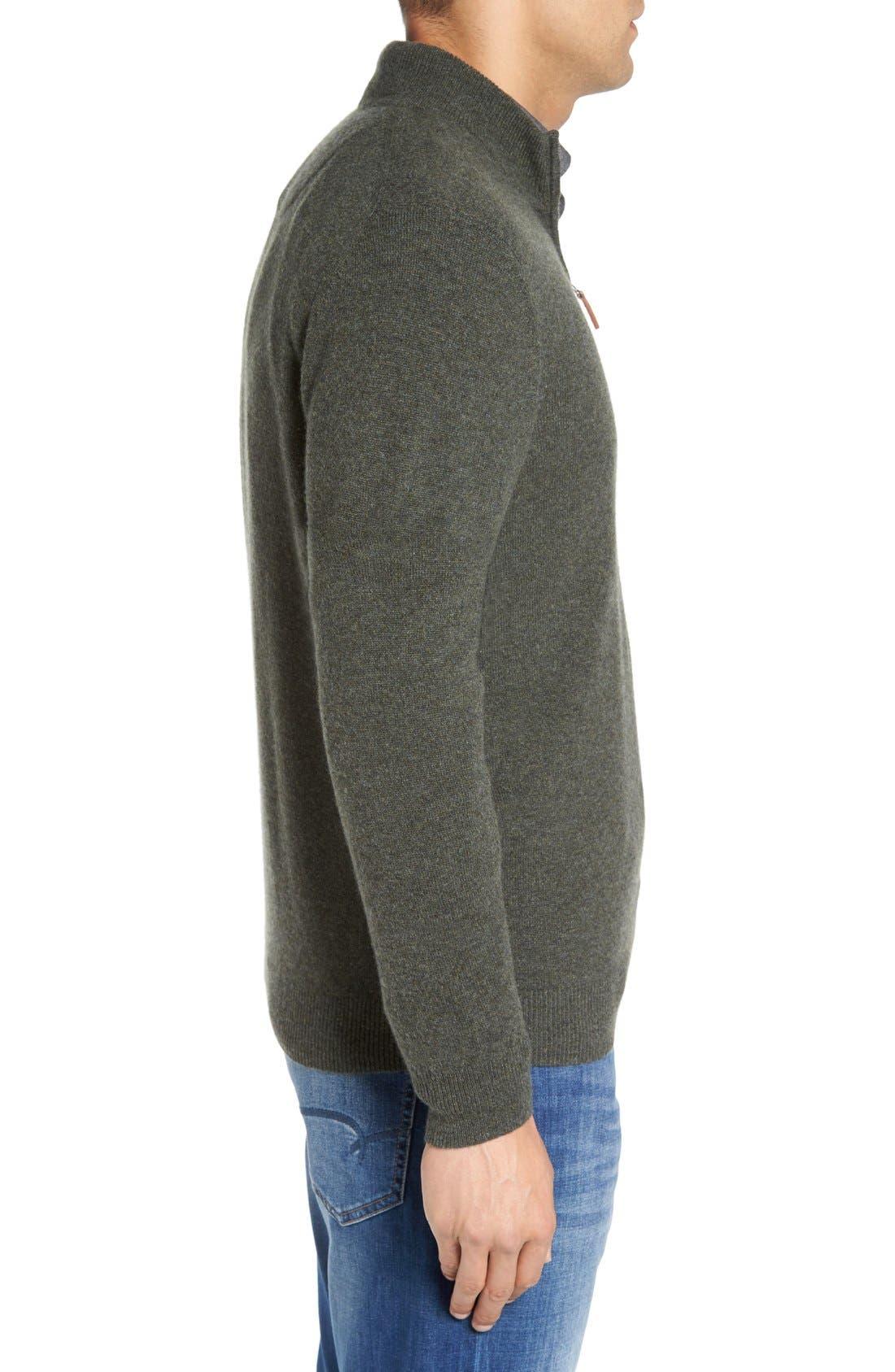 Cashmere Quarter Zip Sweater,                             Alternate thumbnail 46, color,
