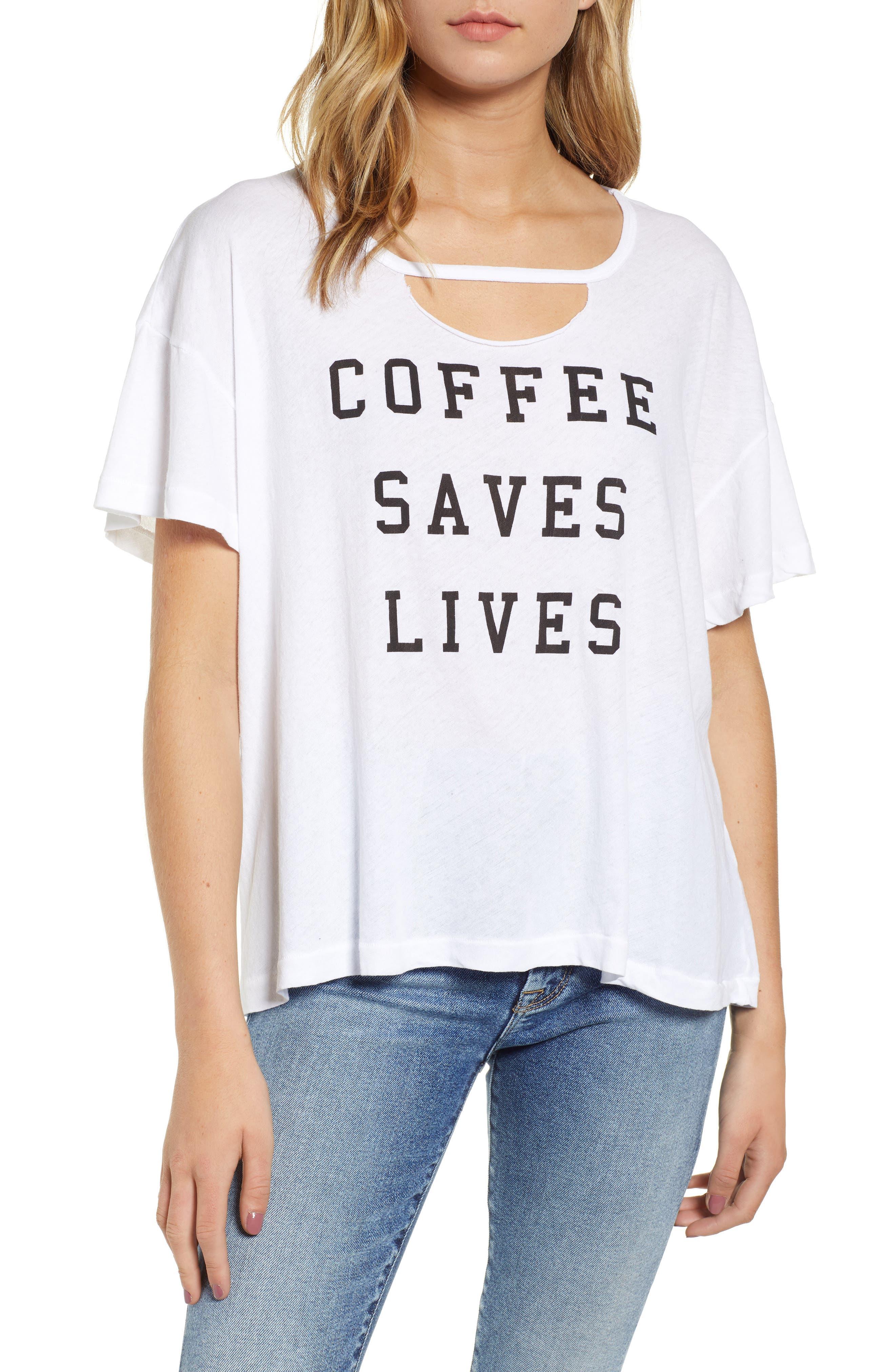 Wildfox COFFEE SAVES LIVES TEE