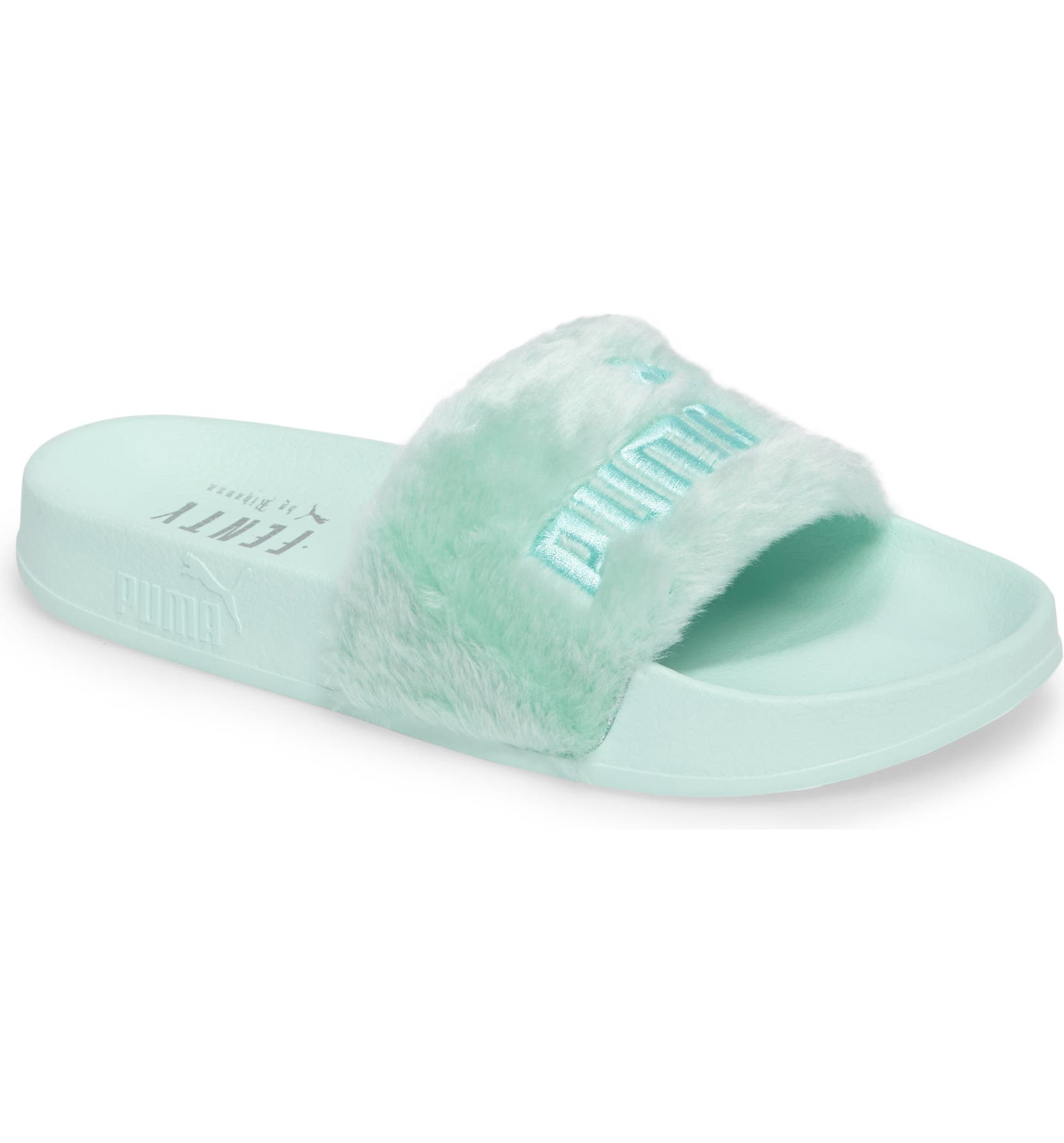 FENTY PUMA by Rihanna  Leadcat Fenty  Faux Fur Slide Sandal (Women ... be8f84983