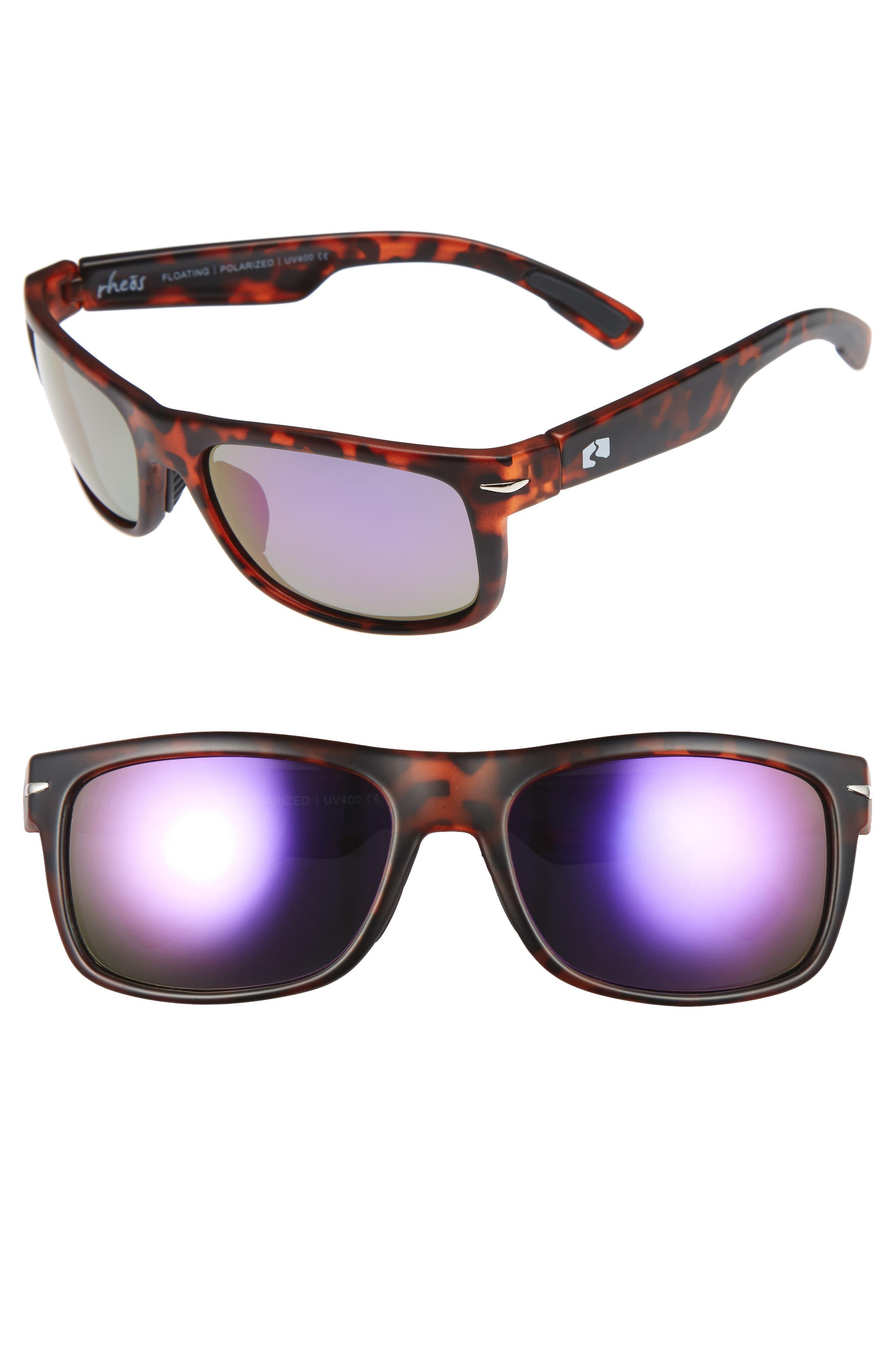 Anhingas Floating 59mm Polarized Sunglasses,                             Main thumbnail 1, color,                             TORTOISE/ PURPLE