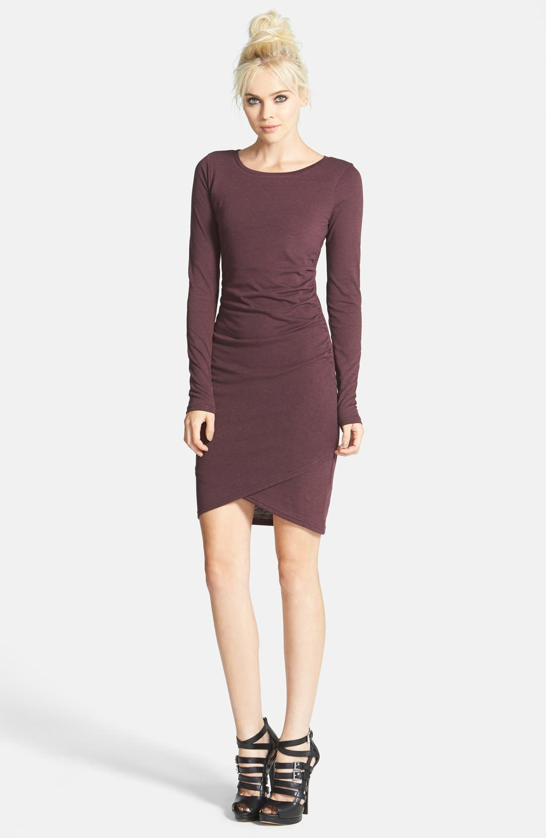 Ruched Long Sleeve Dress,                             Main thumbnail 24, color,