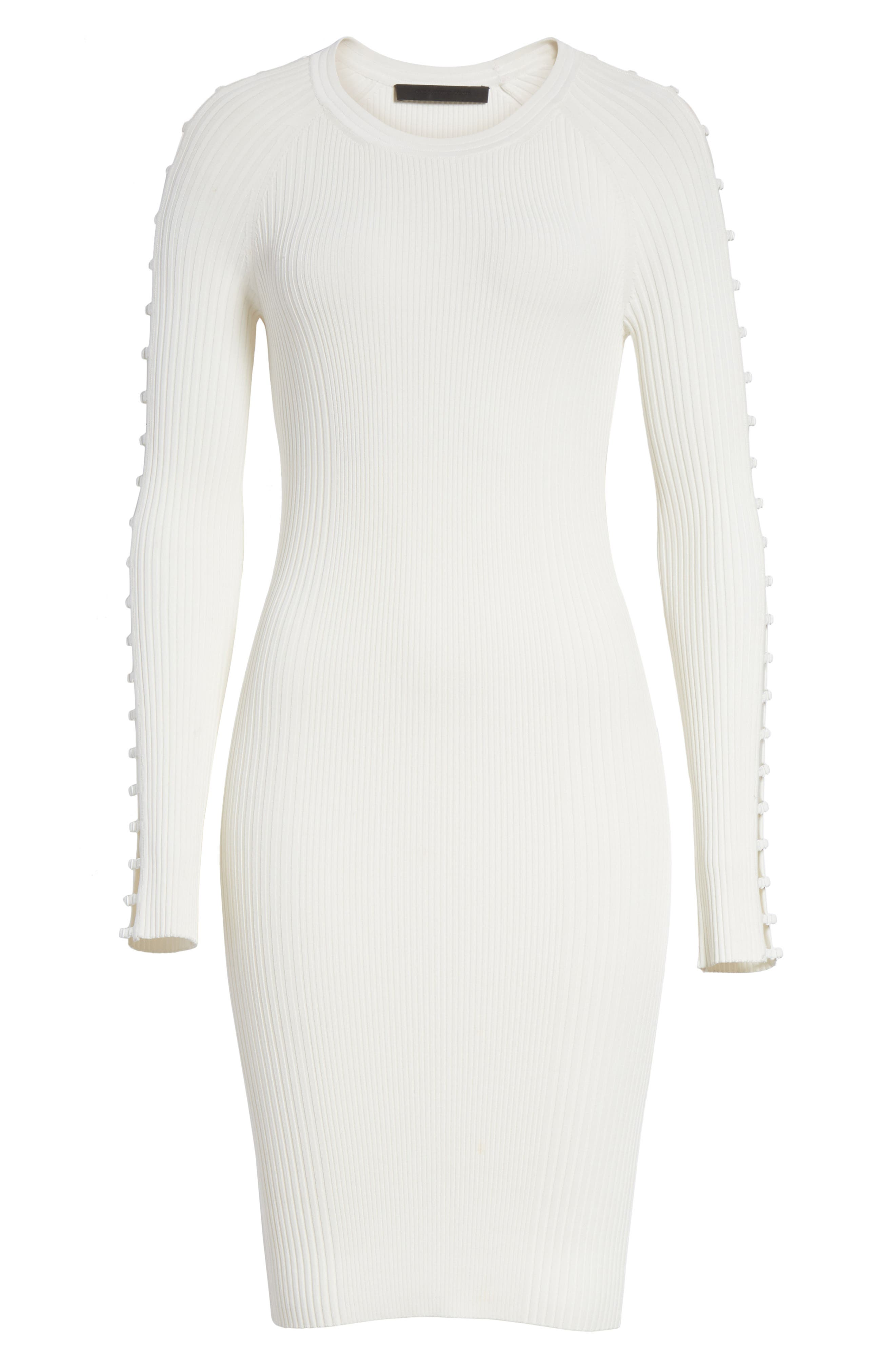 Bra Strap Sleeve Body-Con Dress,                             Alternate thumbnail 6, color,