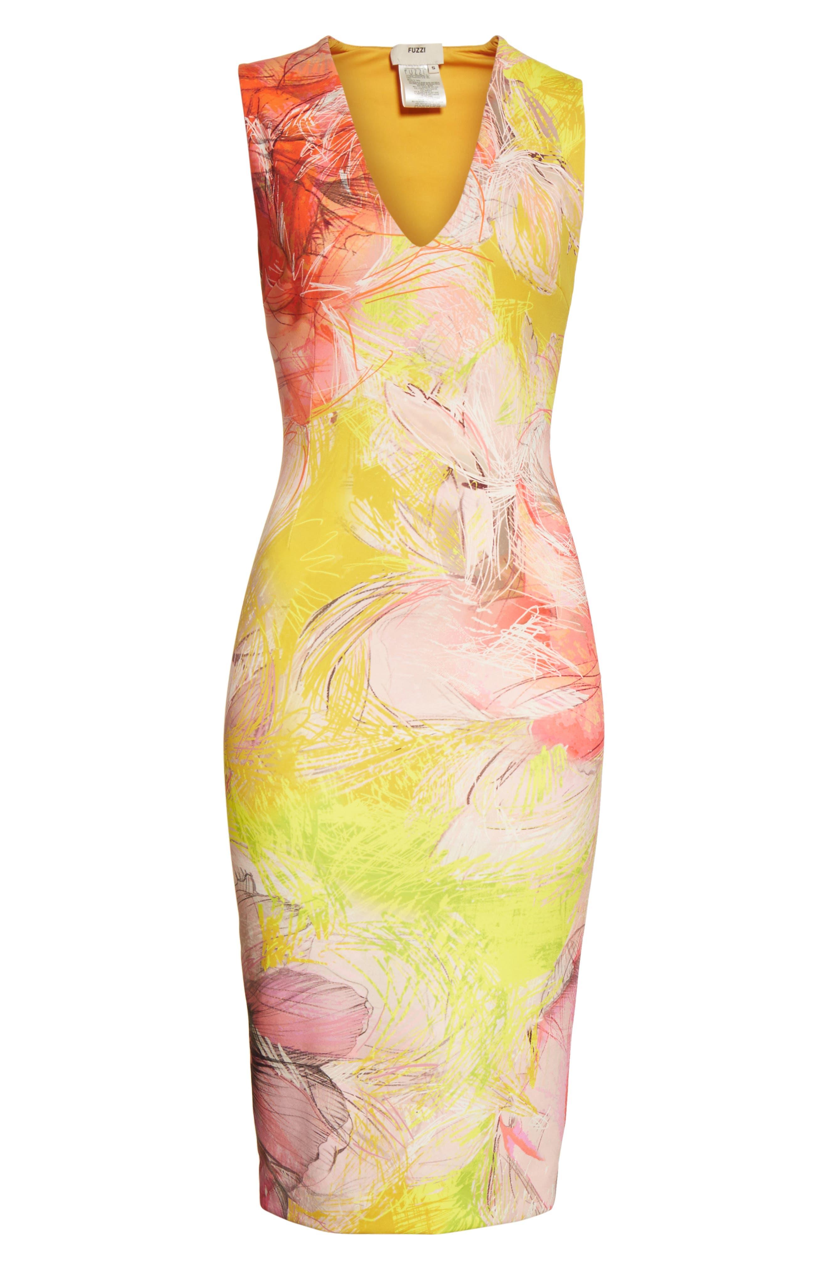 Print Sheath Dress,                             Alternate thumbnail 12, color,