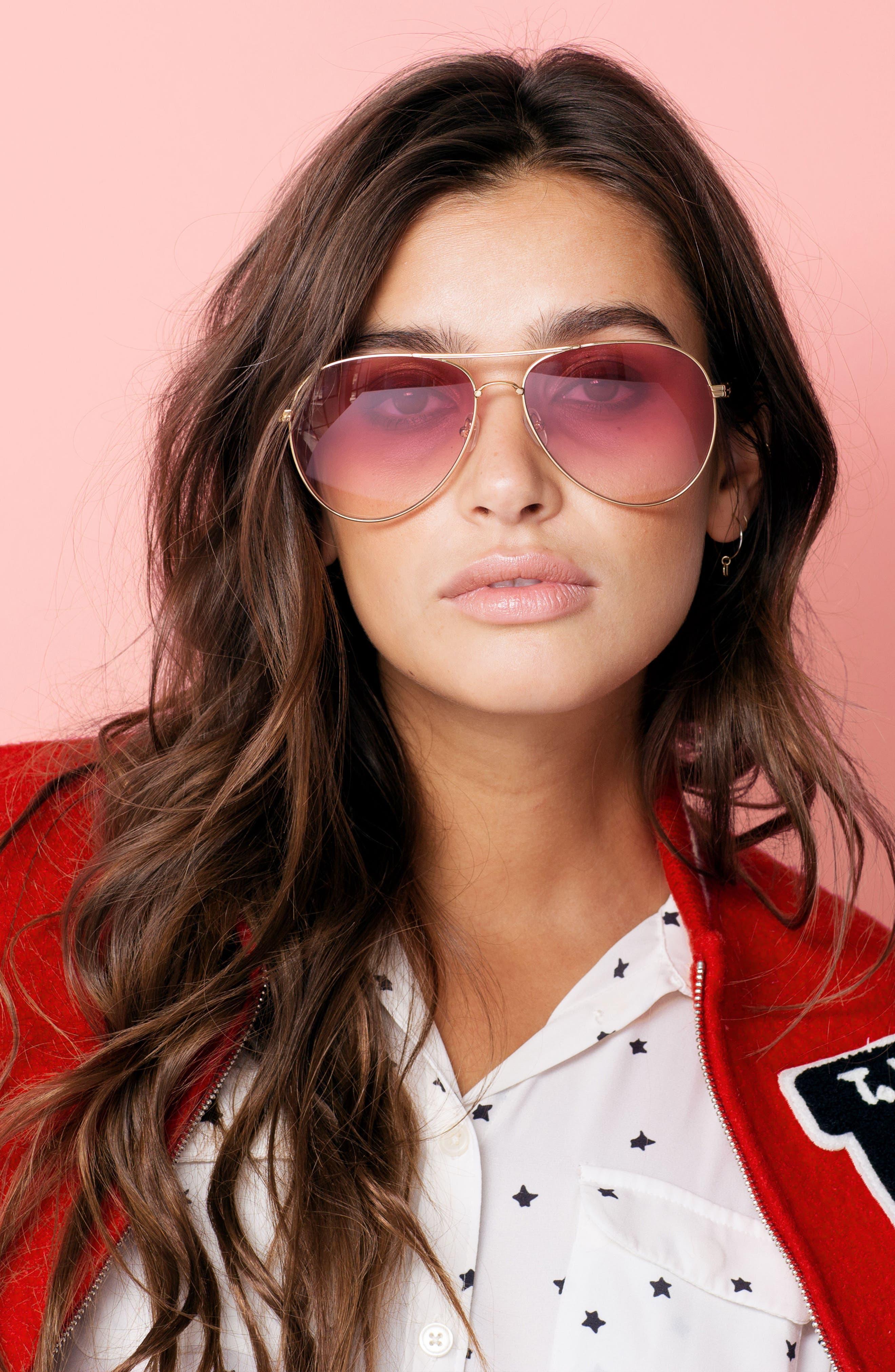 Lodi 62mm Mirrored Aviator Sunglasses,                             Alternate thumbnail 7, color,