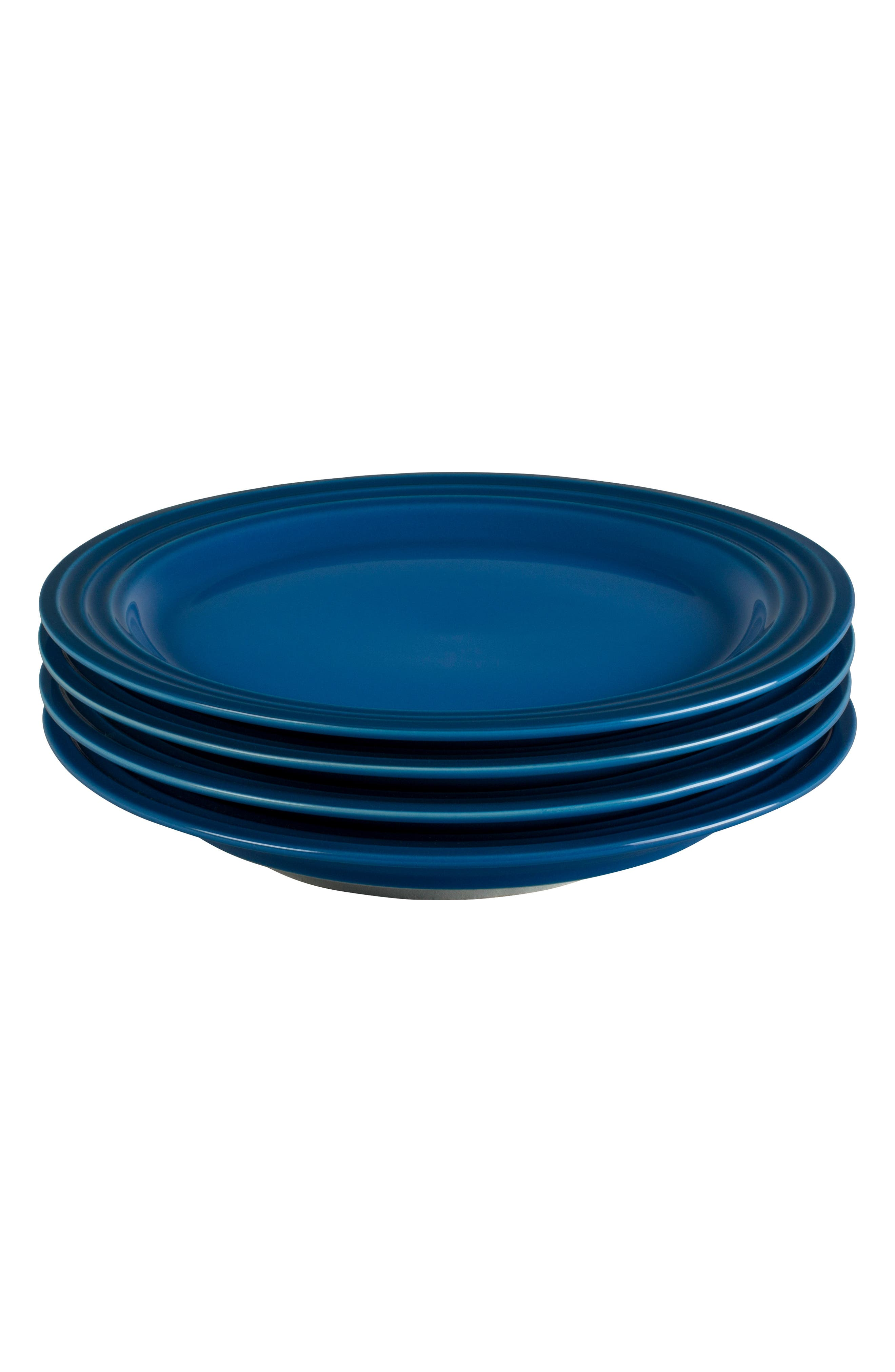 Le Creuset Set Of 4 8 12Inch Salad Plates Size One Size  Blue