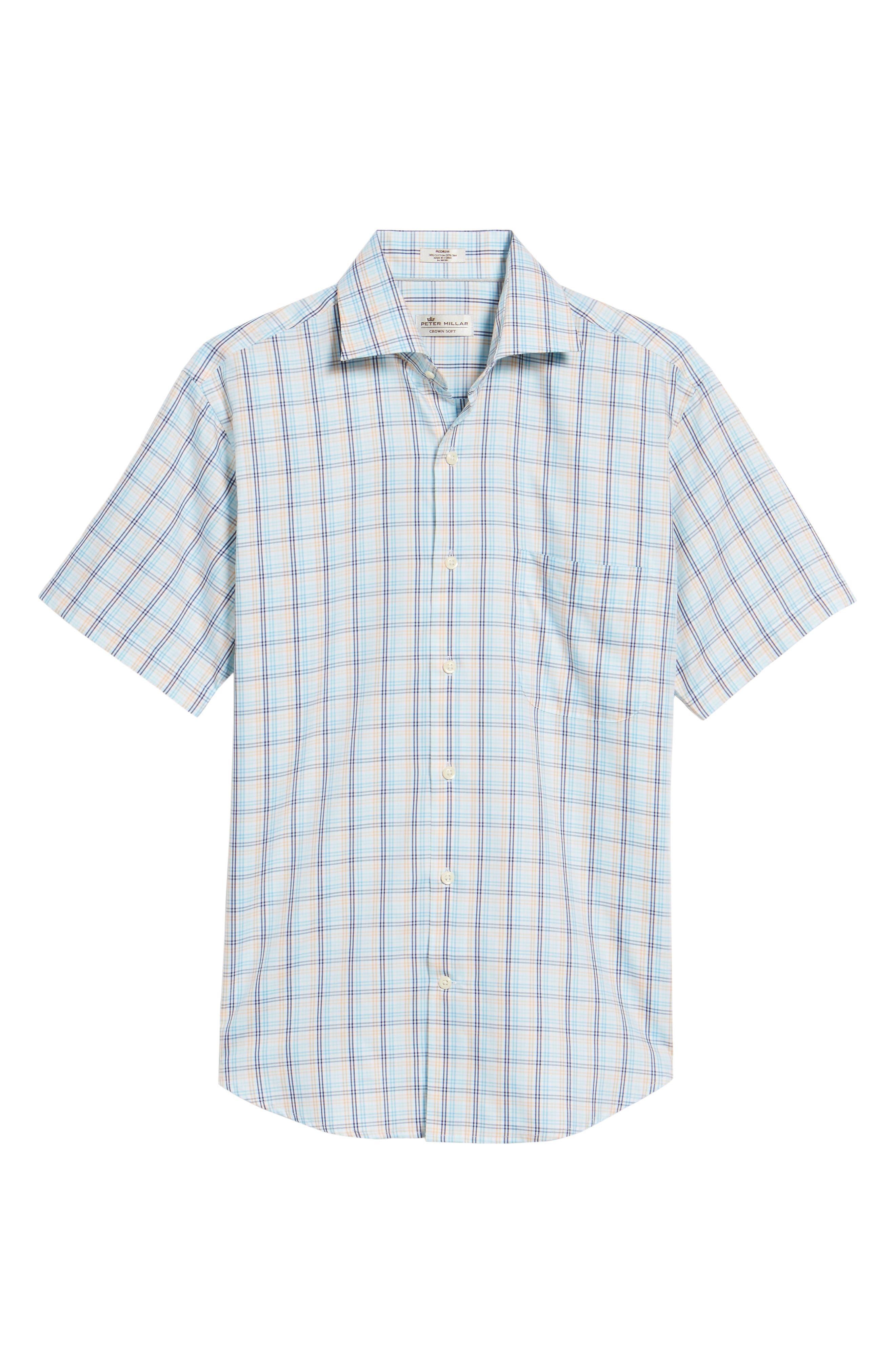 Crown Soft Daybreak Regular Fit Check Sport Shirt,                             Alternate thumbnail 6, color,                             861