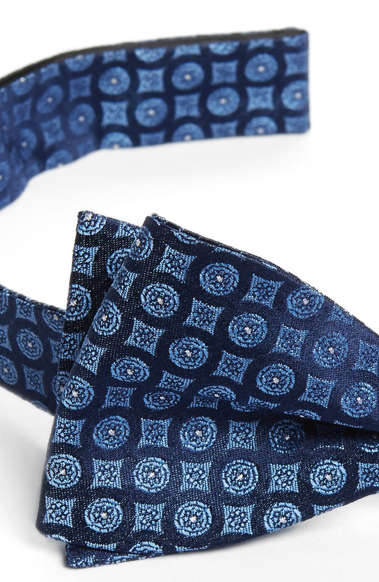 Medallion Silk Bow Tie,                             Alternate thumbnail 3, color,                             411