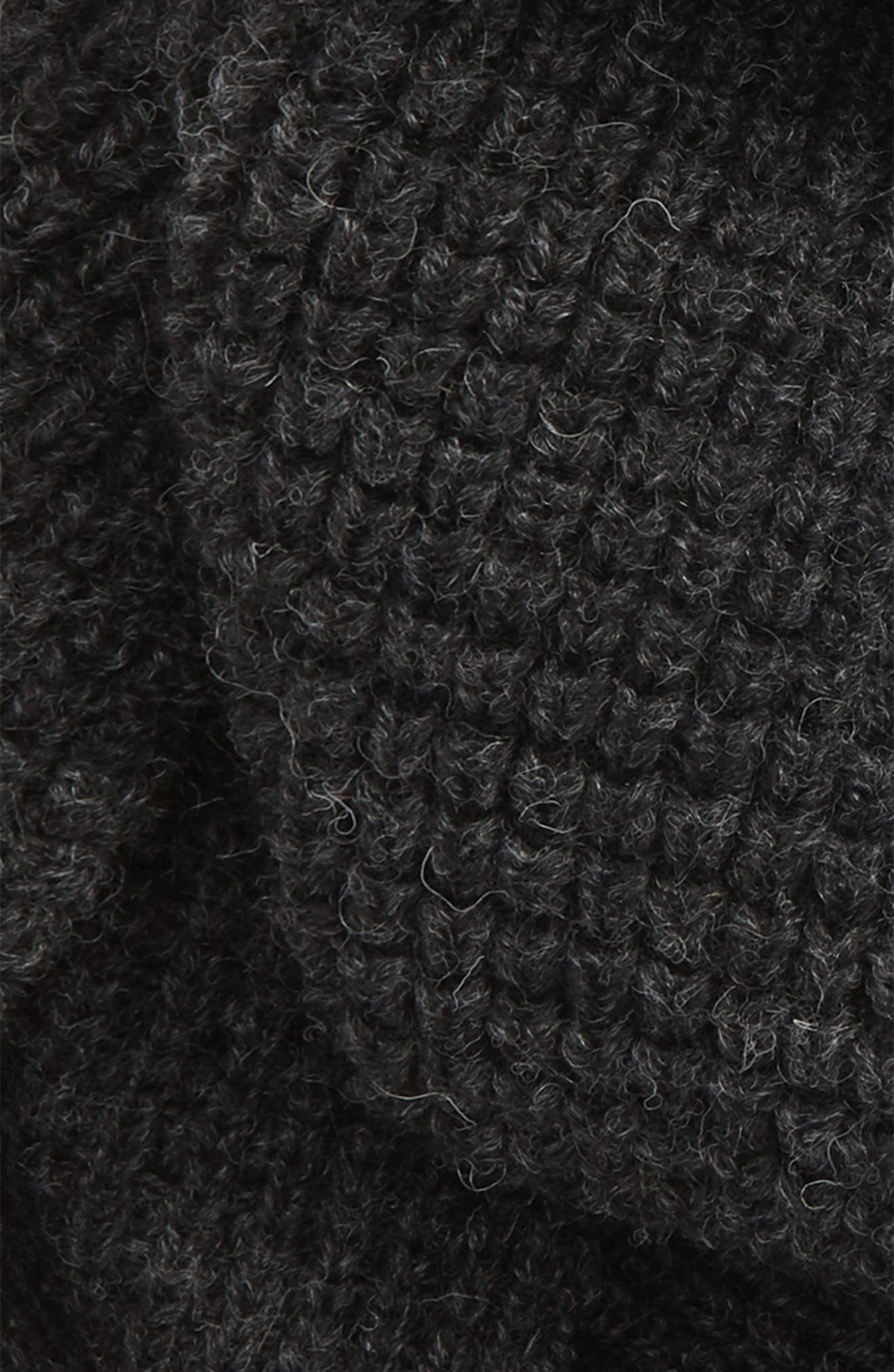 Infinity Wool Scarf,                             Alternate thumbnail 3, color,                             IRON GREY