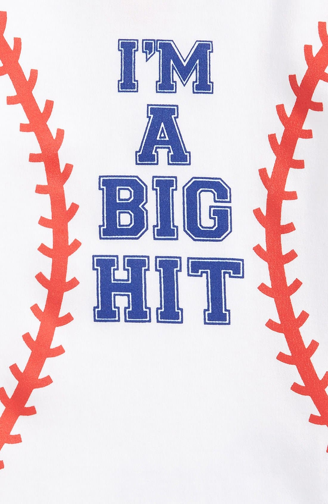 'I'm a Big Hit' Graphic Bodysuit,                             Alternate thumbnail 3, color,                             100