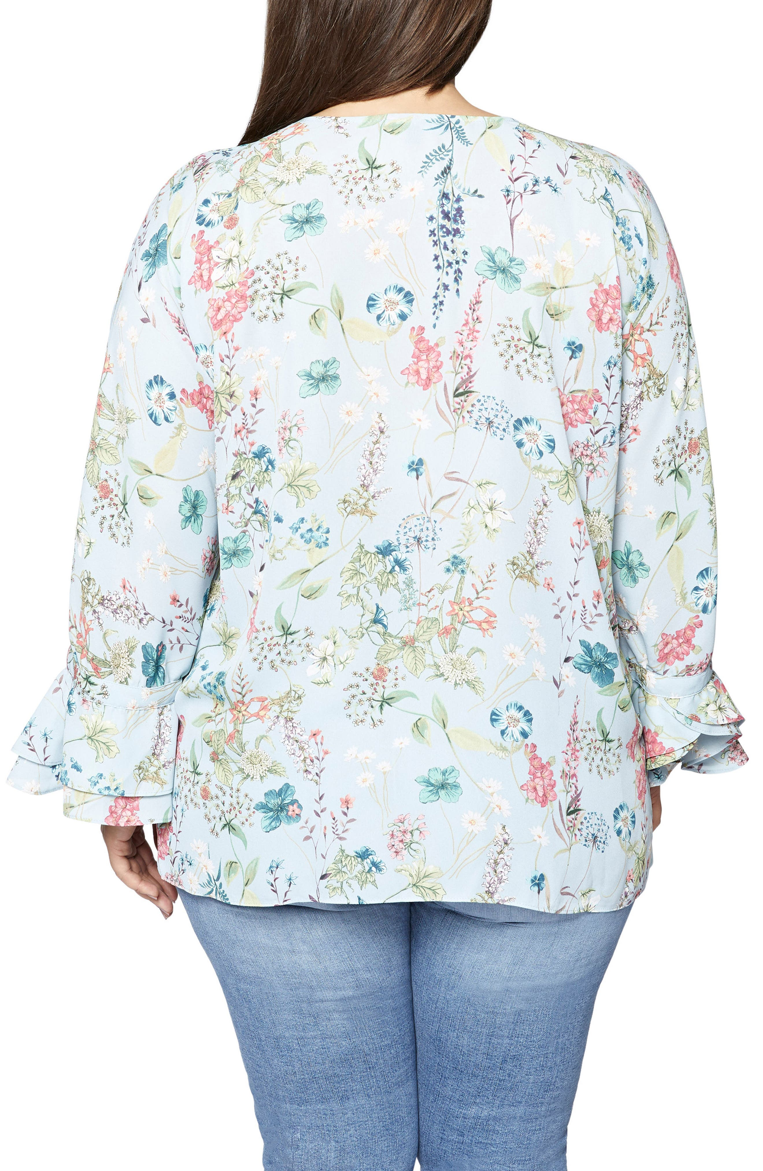 Posey Floral Blouse,                             Alternate thumbnail 2, color,                             450