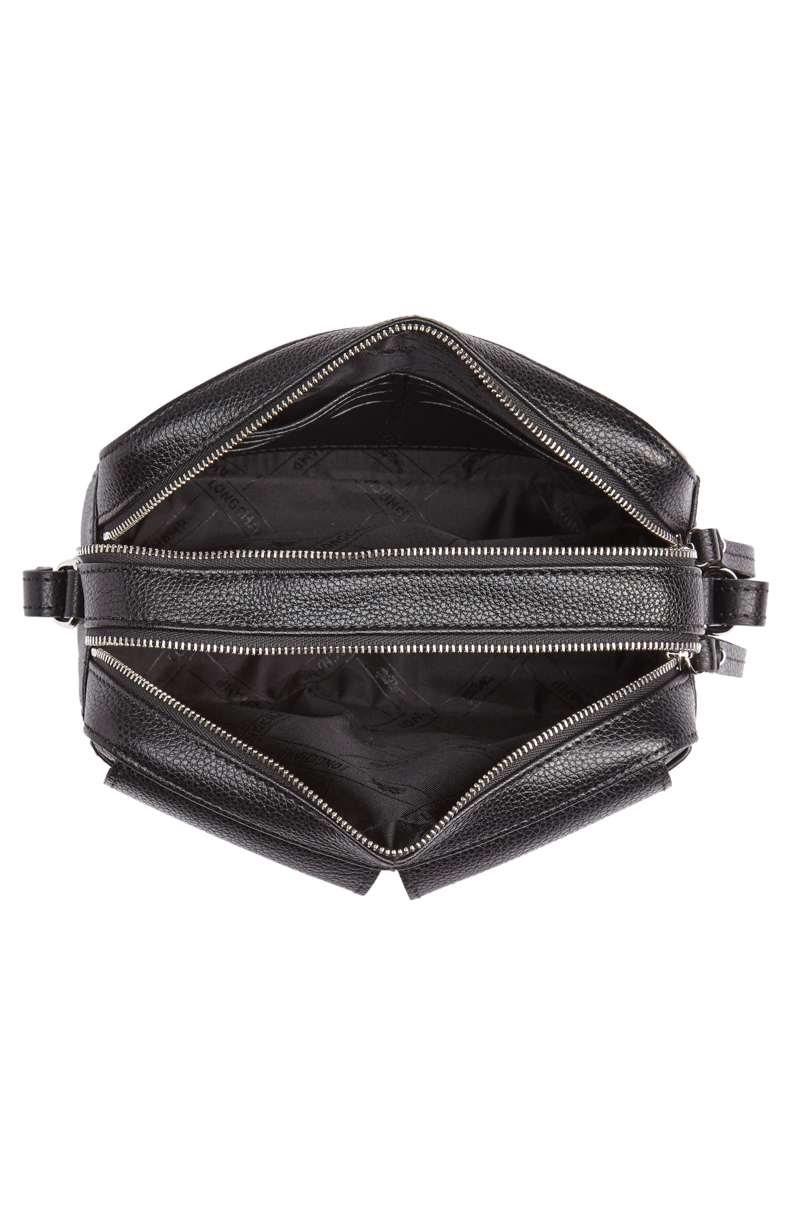 Le Foulonné Leather Camera Bag,                             Alternate thumbnail 4, color,                             BLACK