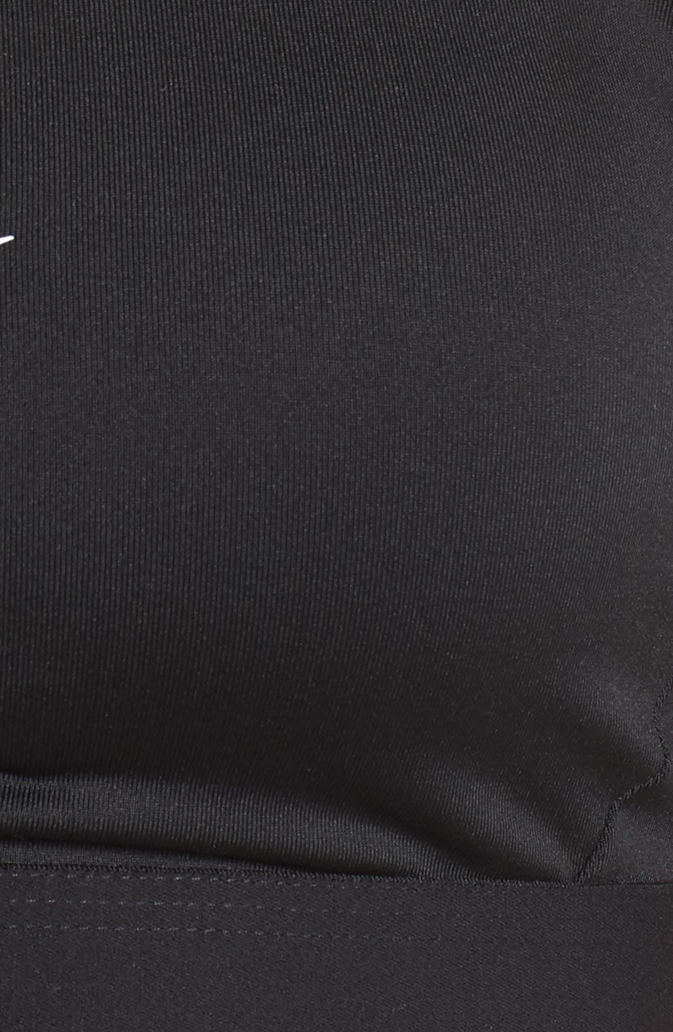 Classic Strappy Sports Bra,                             Alternate thumbnail 8, color,                             BLACK/ WHITE/ WHITE