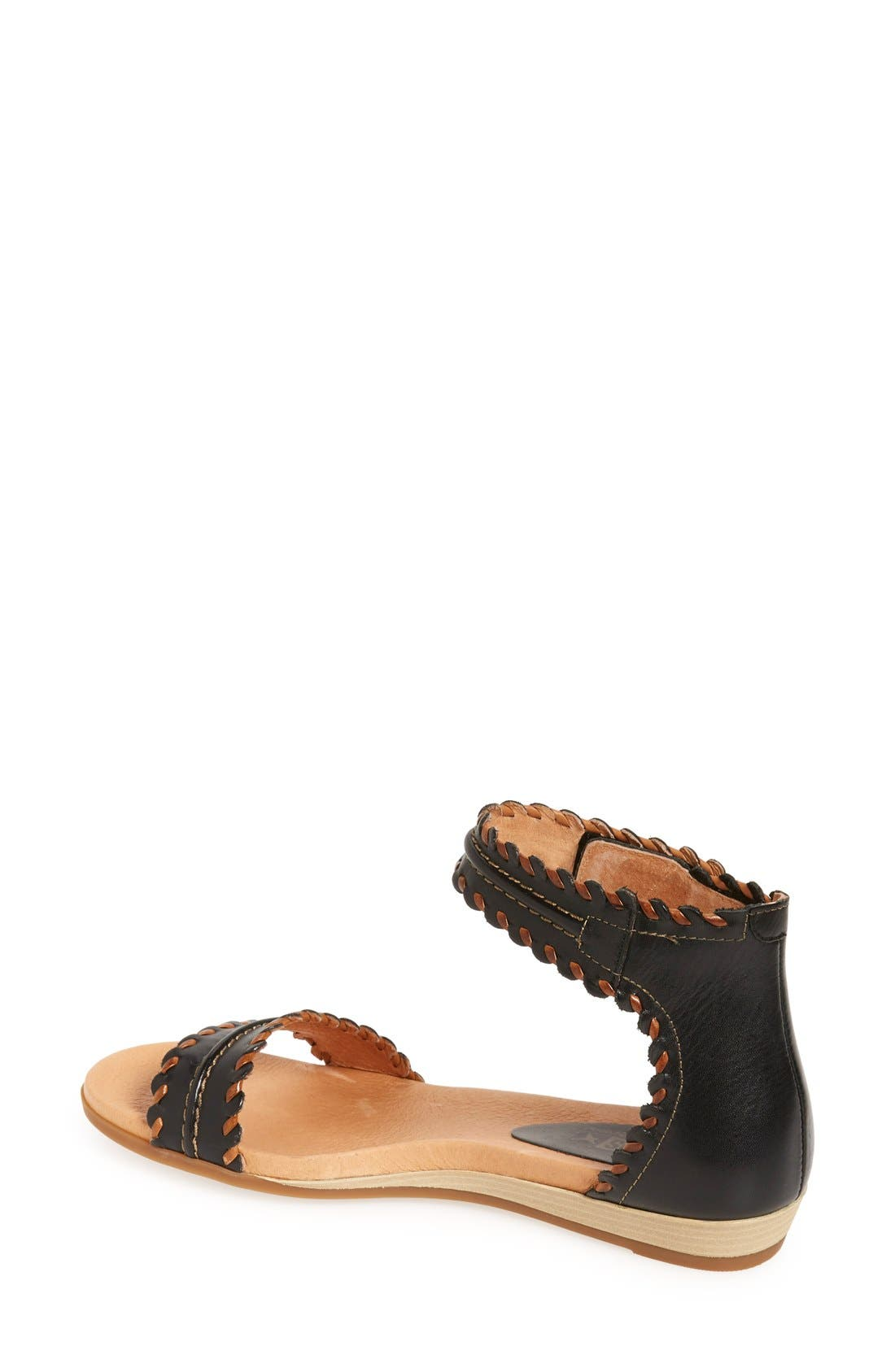 'Alcudia' Ankle Strap Sandal,                             Alternate thumbnail 3, color,                             001