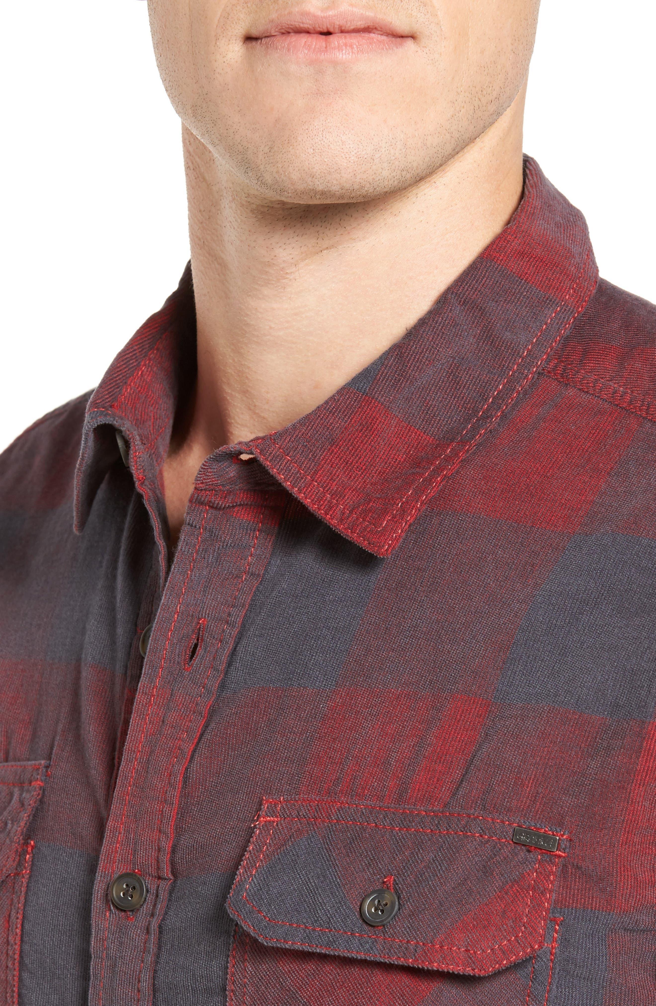 Knock on My Door Regular Fit Check Corduroy Shirt,                             Alternate thumbnail 10, color,
