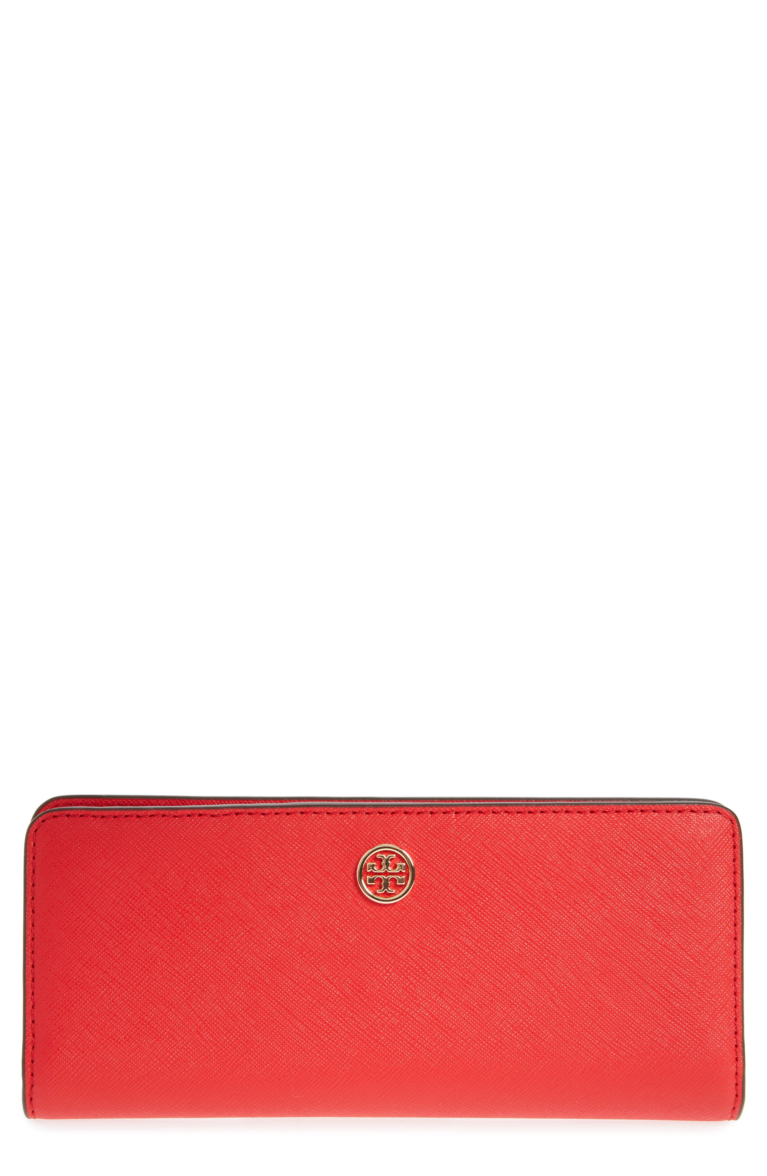 Robinson Saffiano Leather Continental Wallet,                             Main thumbnail 1, color,                             BRILLIANT RED