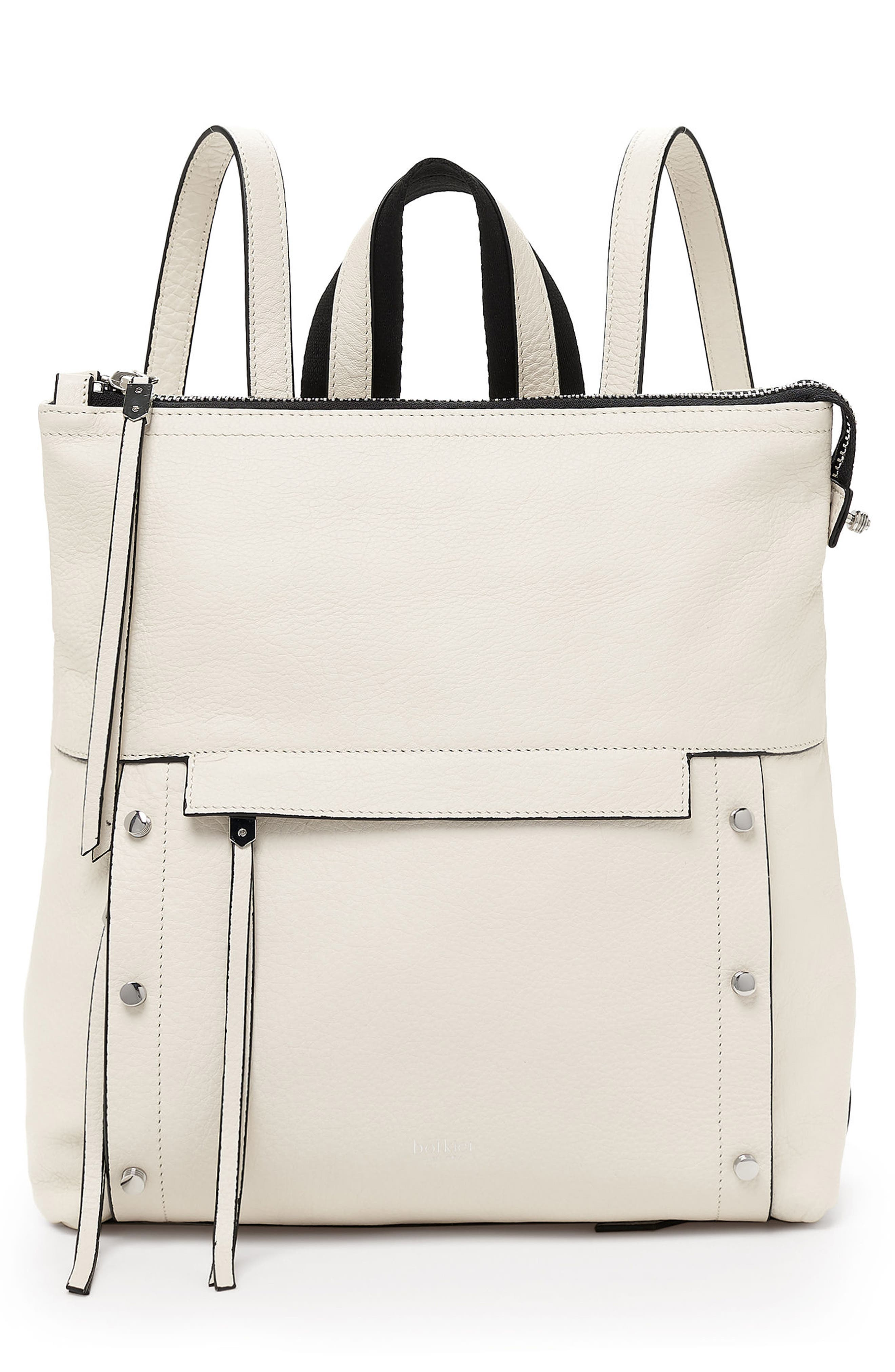 Noho Leather Backpack,                         Main,                         color, CREAM
