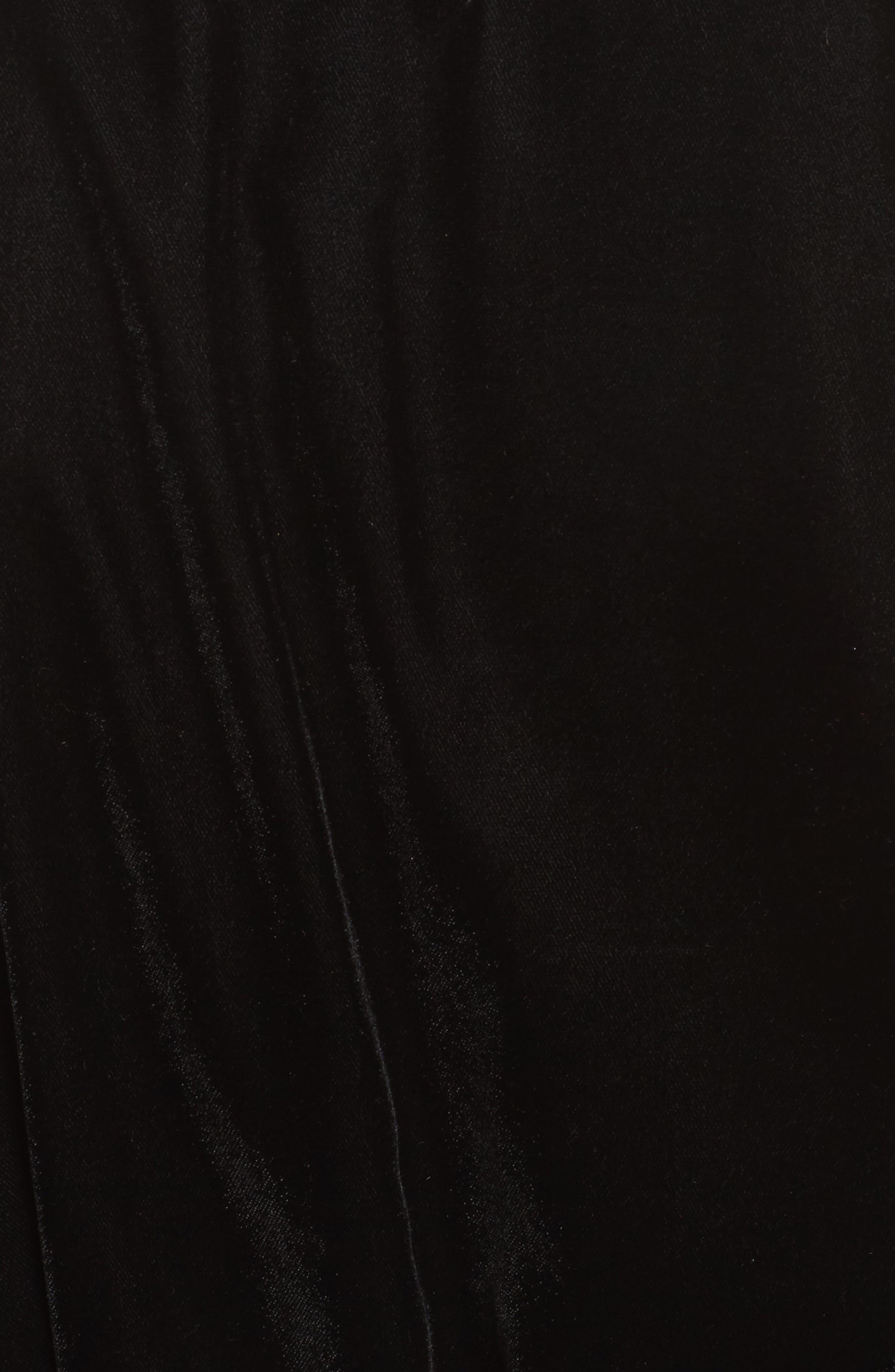 Velvet Short Robe,                             Alternate thumbnail 5, color,                             001