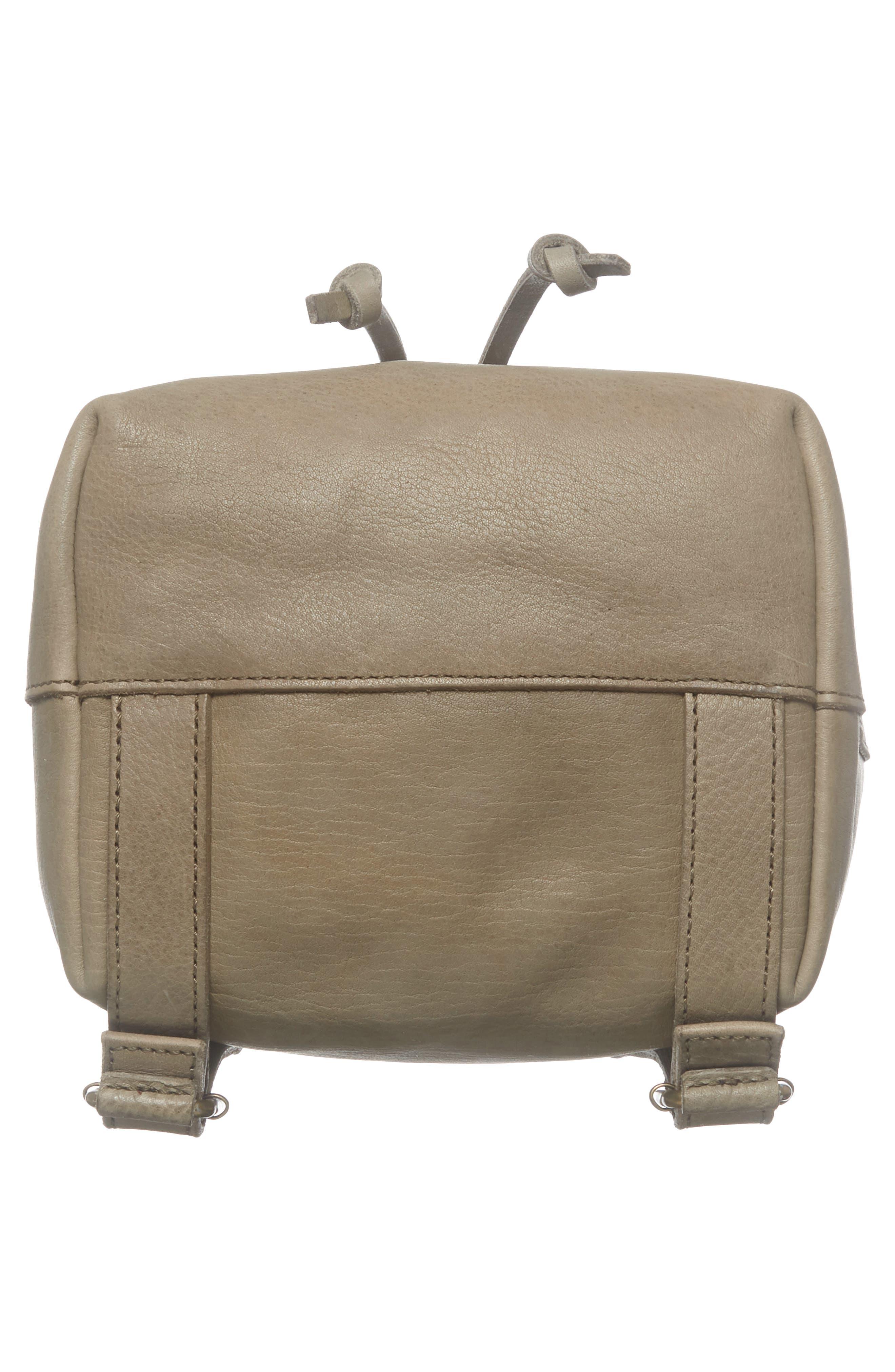 Mini Somerset Leather Backpack,                             Alternate thumbnail 6, color,                             FORGOTTEN LANDSCAPE
