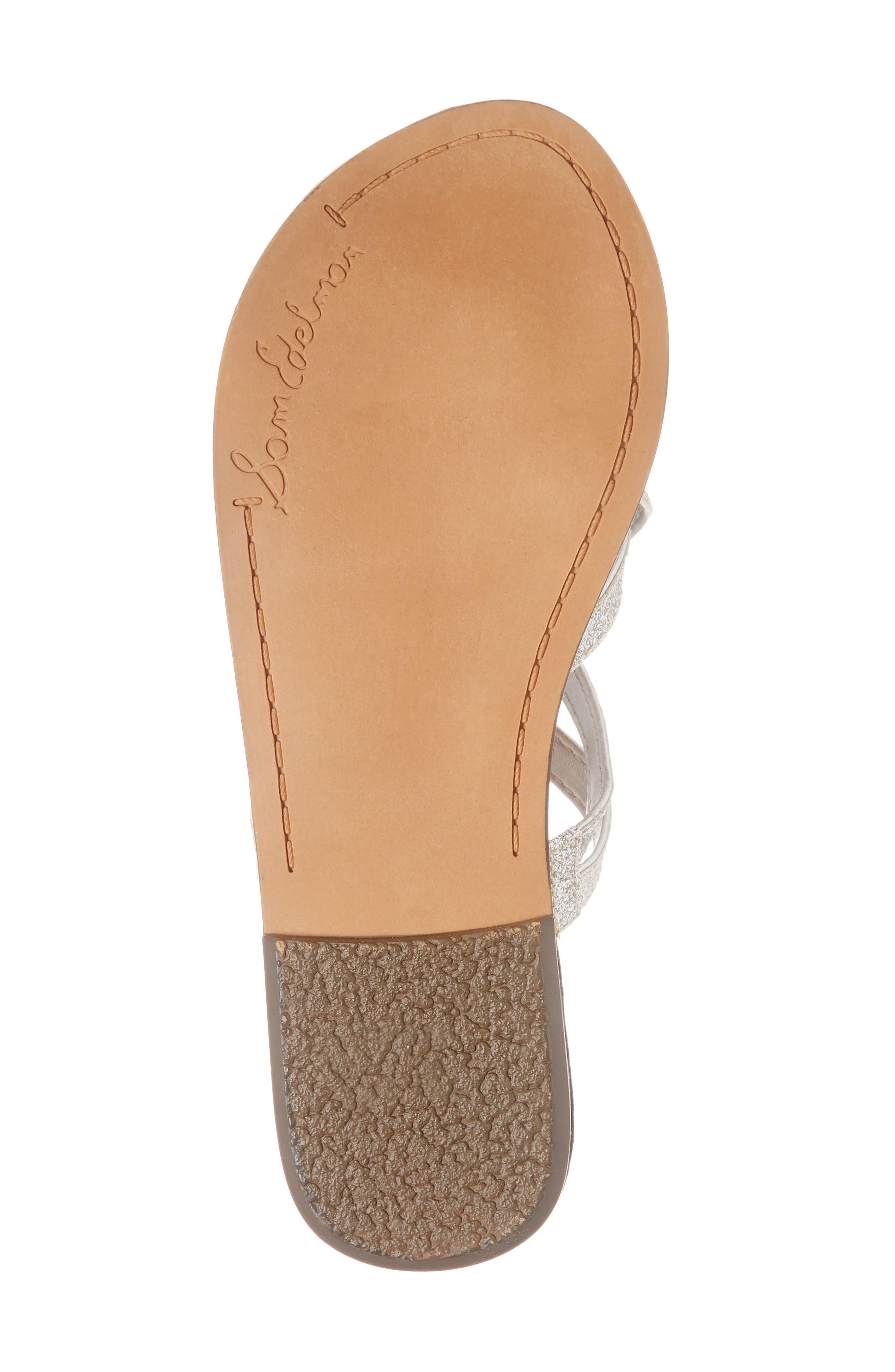 Georgette Glitter Flat Sandal,                             Alternate thumbnail 6, color,                             040