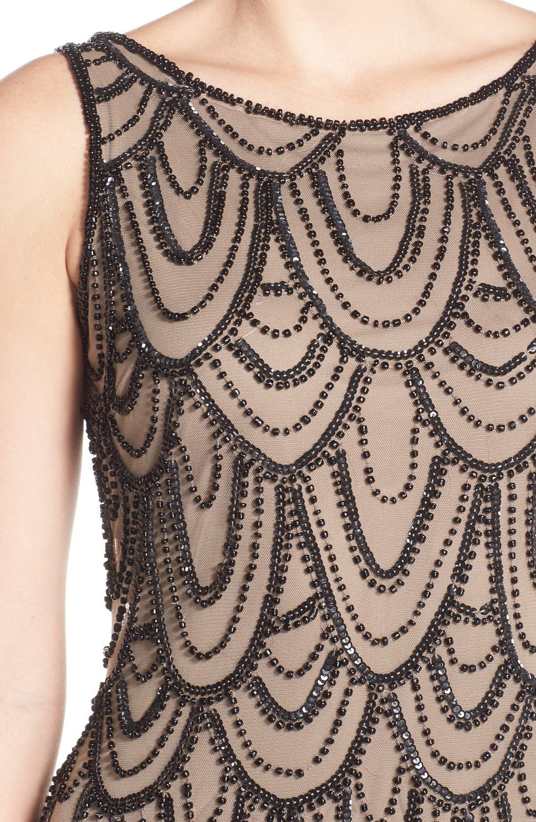 Embellished Mesh Sheath Dress,                             Alternate thumbnail 86, color,