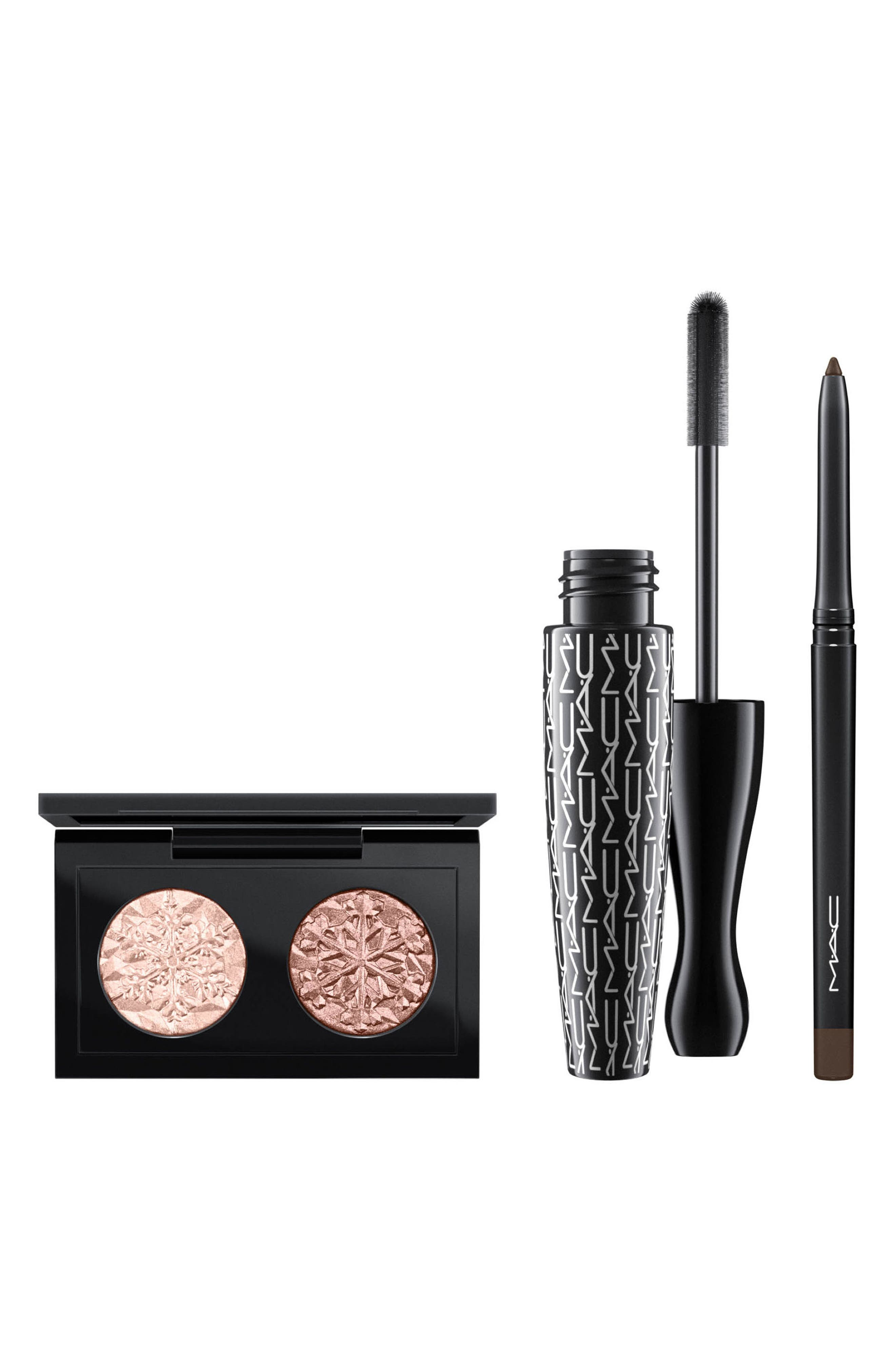 MAC Snow Ball Smoky Gold Eye Bag,                             Alternate thumbnail 3, color,                             000