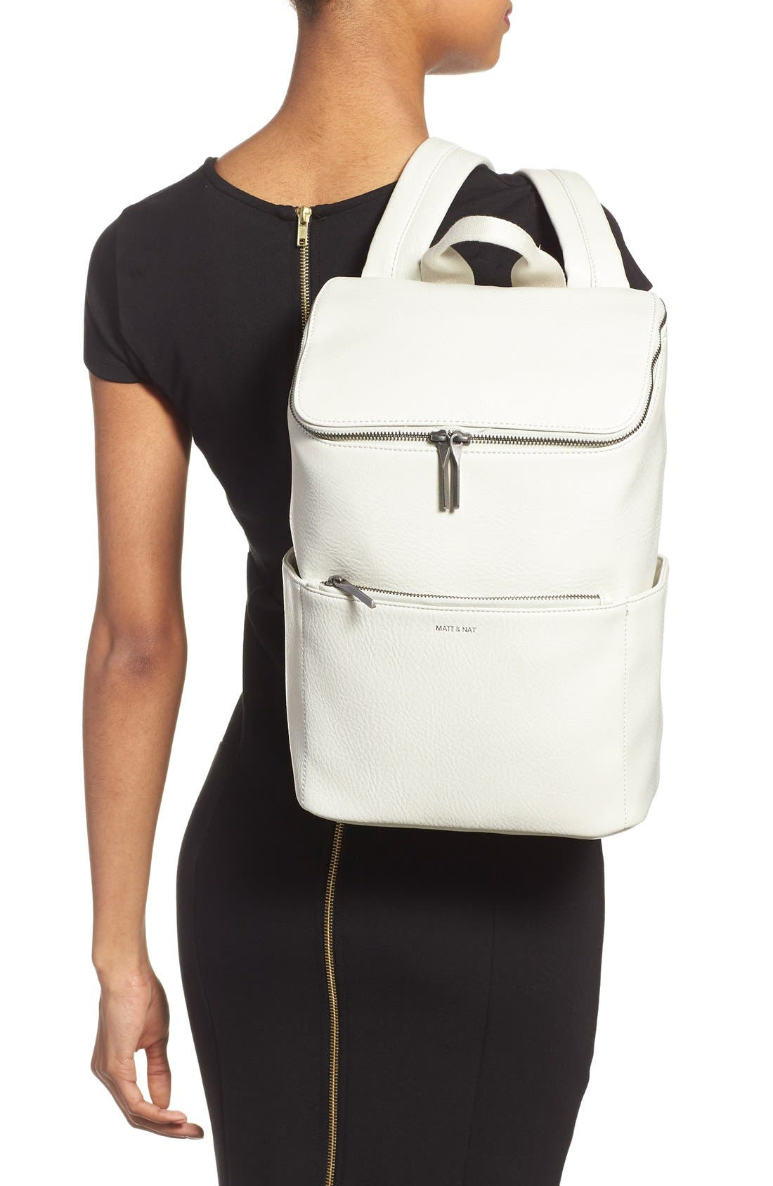 'Brave' Faux Leather Backpack,                             Alternate thumbnail 42, color,