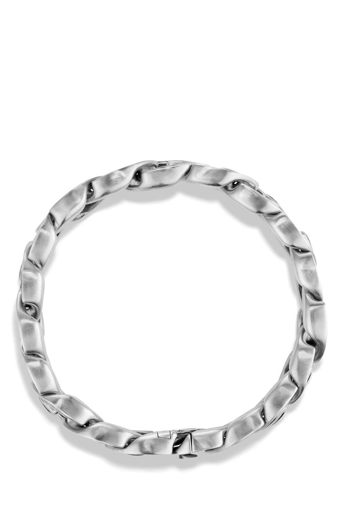 'Maritime' Curb Link Bracelet,                             Alternate thumbnail 3, color,                             SILVER