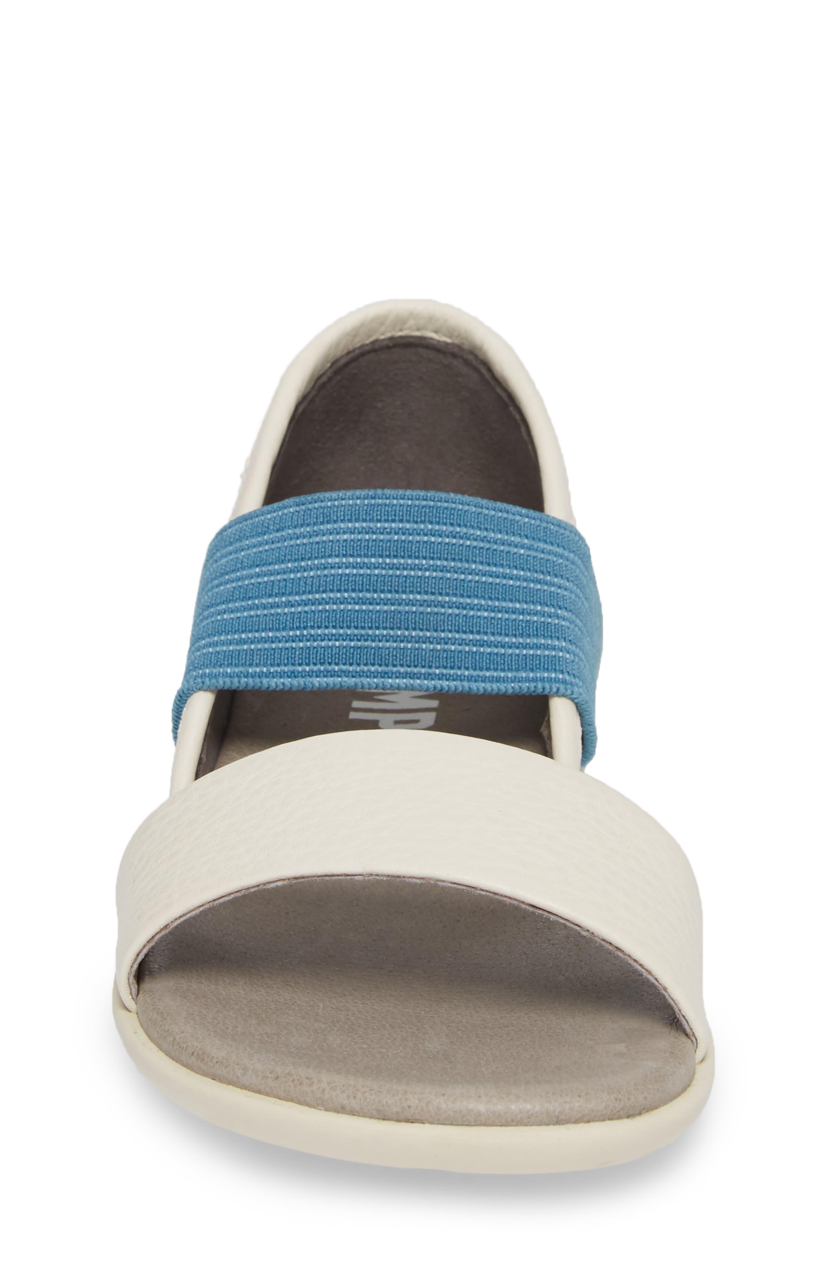 Right Sandal,                             Alternate thumbnail 4, color,                             WHITE