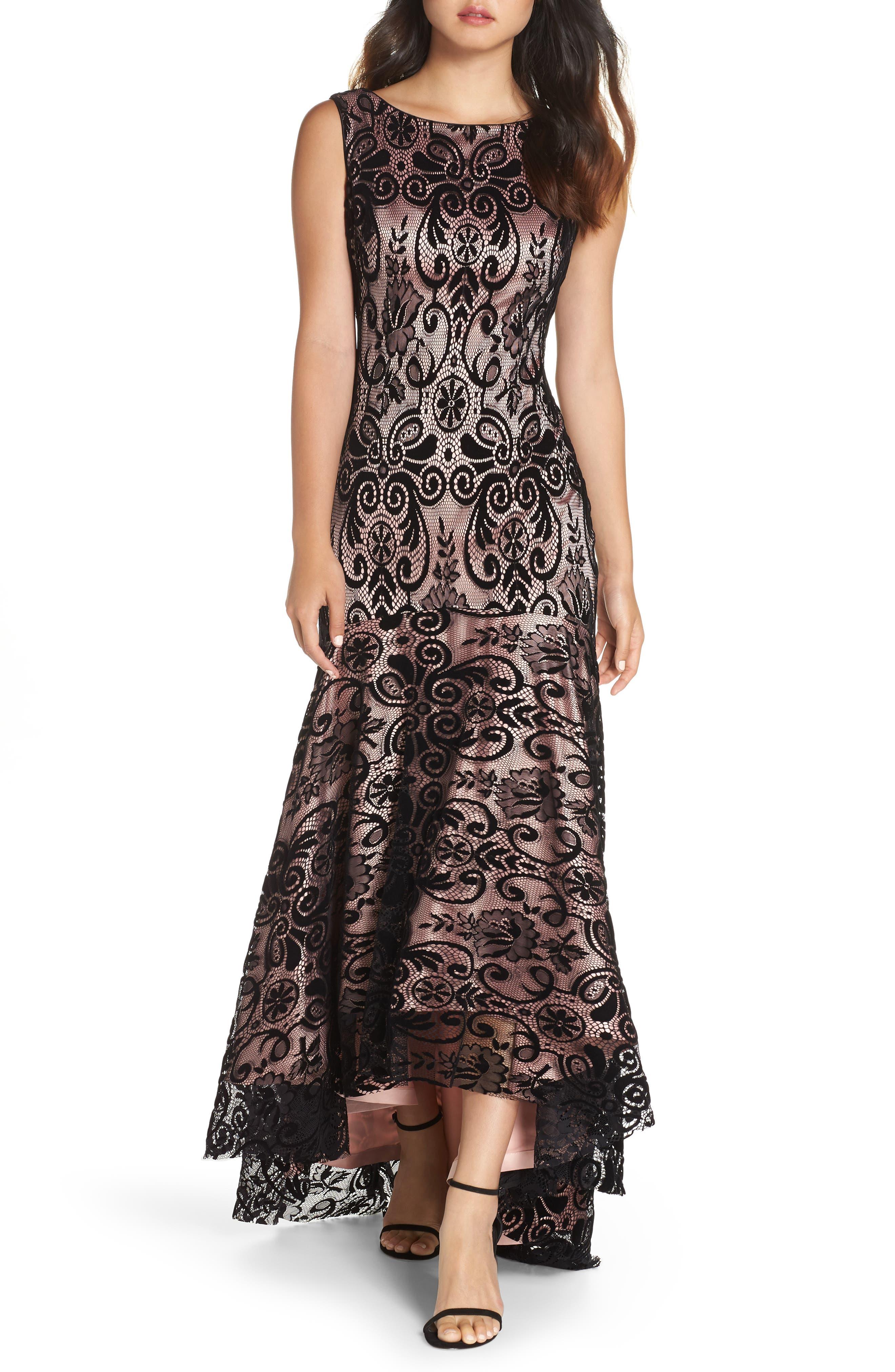 Eliza J High/low Lace Gown, Black