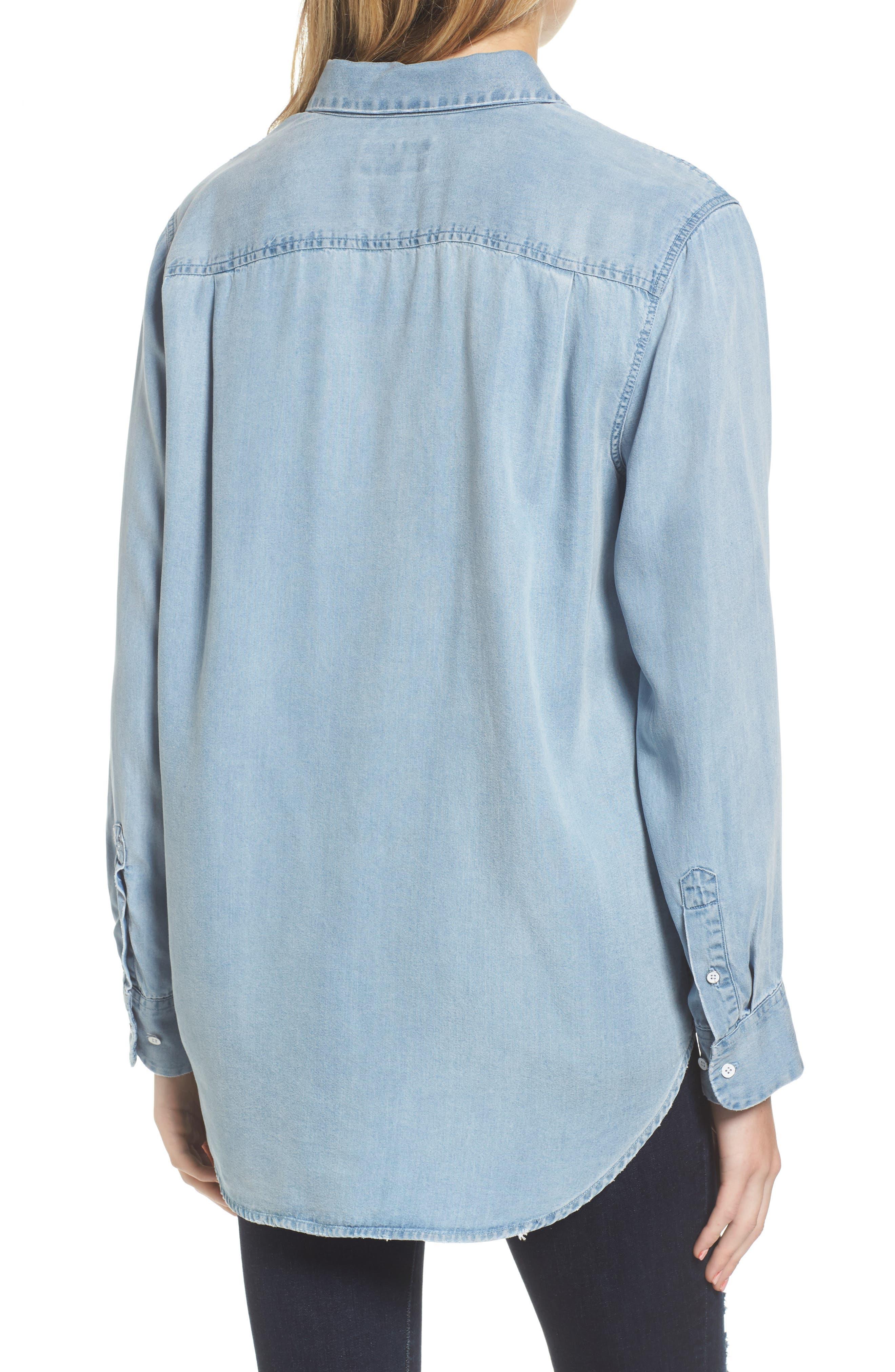 x The Blue Shirt Shop Nassau & Manhattan Boyfriend Shirt,                             Alternate thumbnail 2, color,