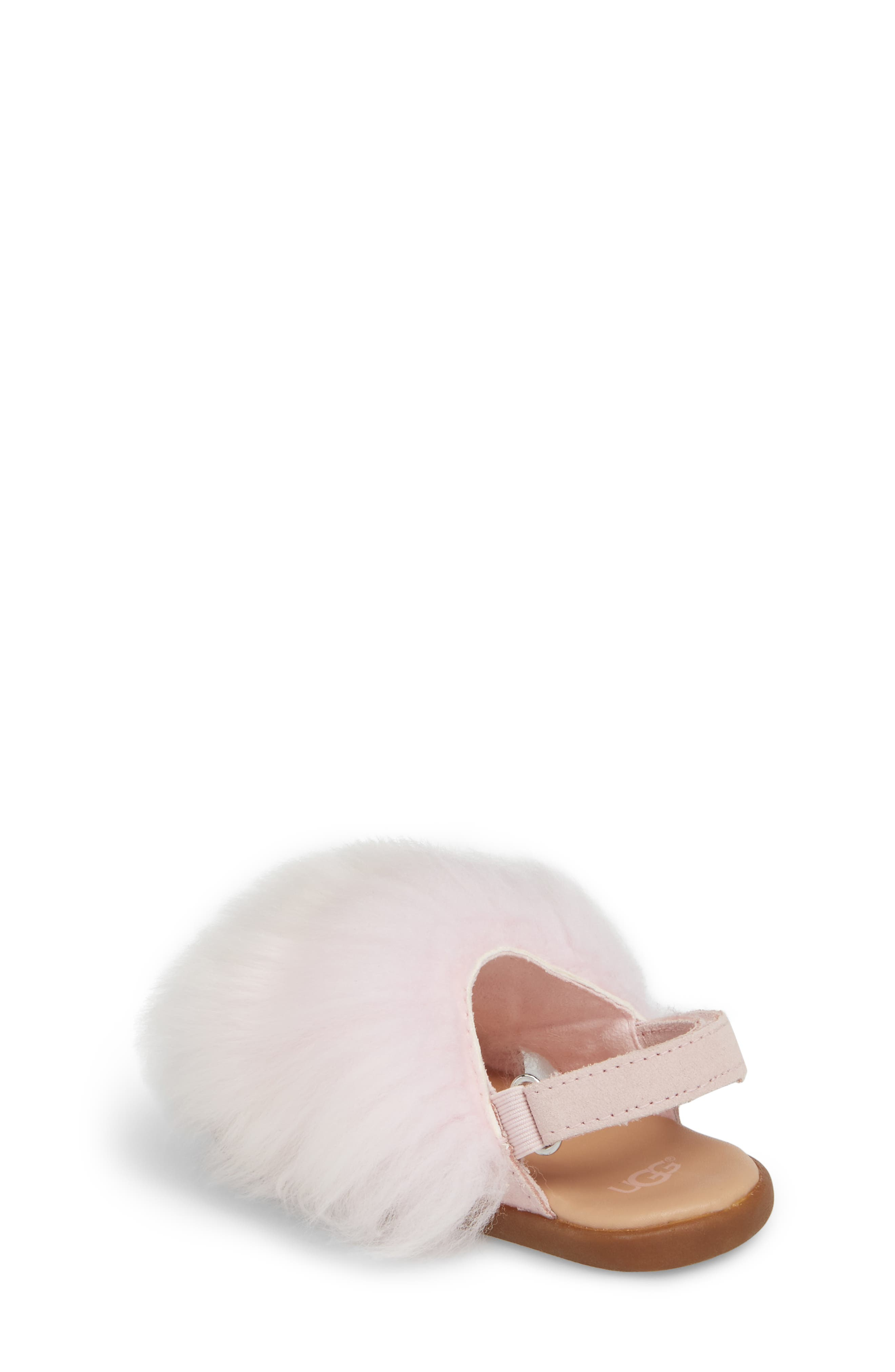 Holly Genuine Shearling Sandal,                             Alternate thumbnail 2, color,                             SEASHELL PINK