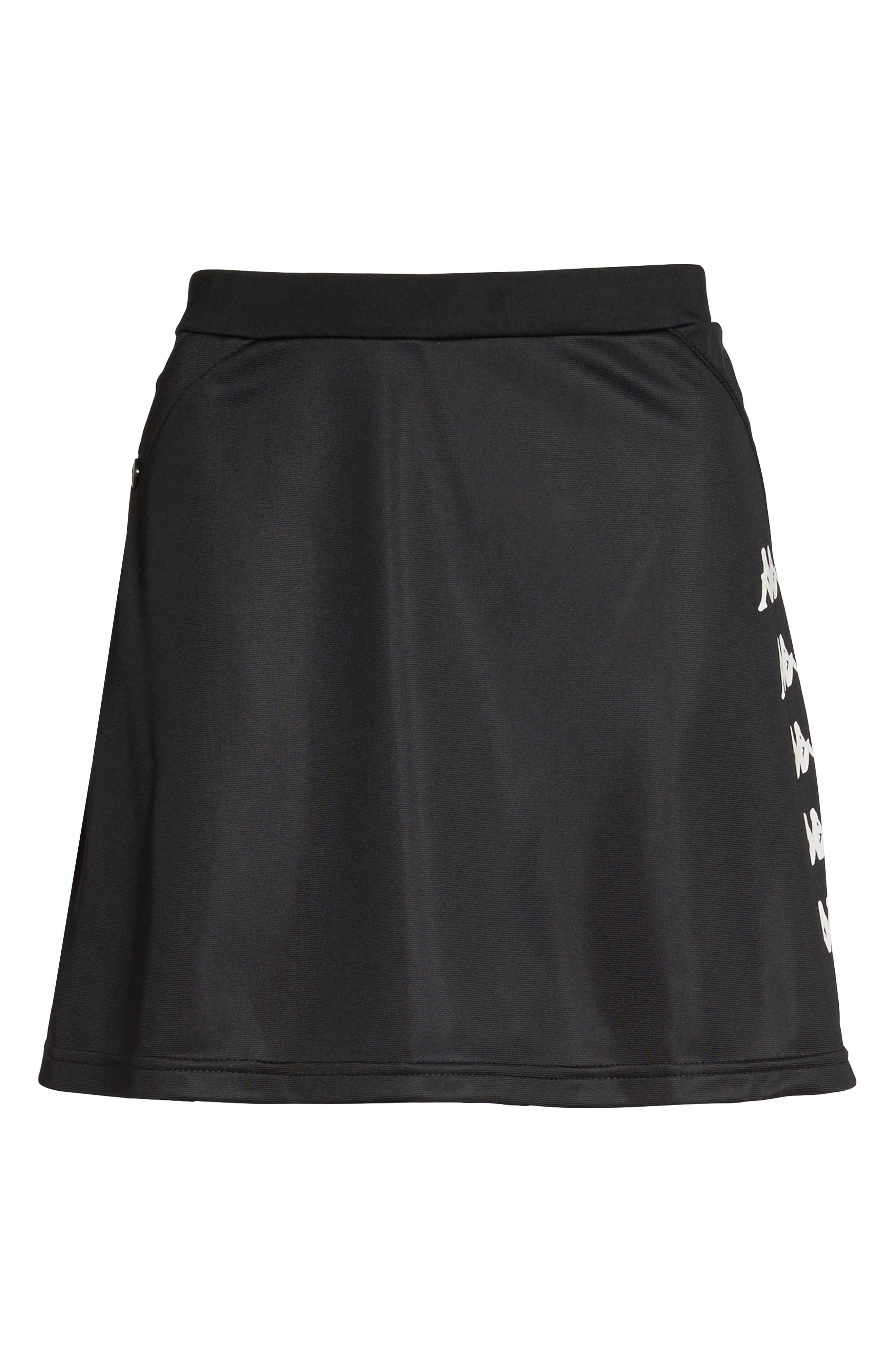 Authentic Piqué Skirt,                             Alternate thumbnail 7, color,                             001