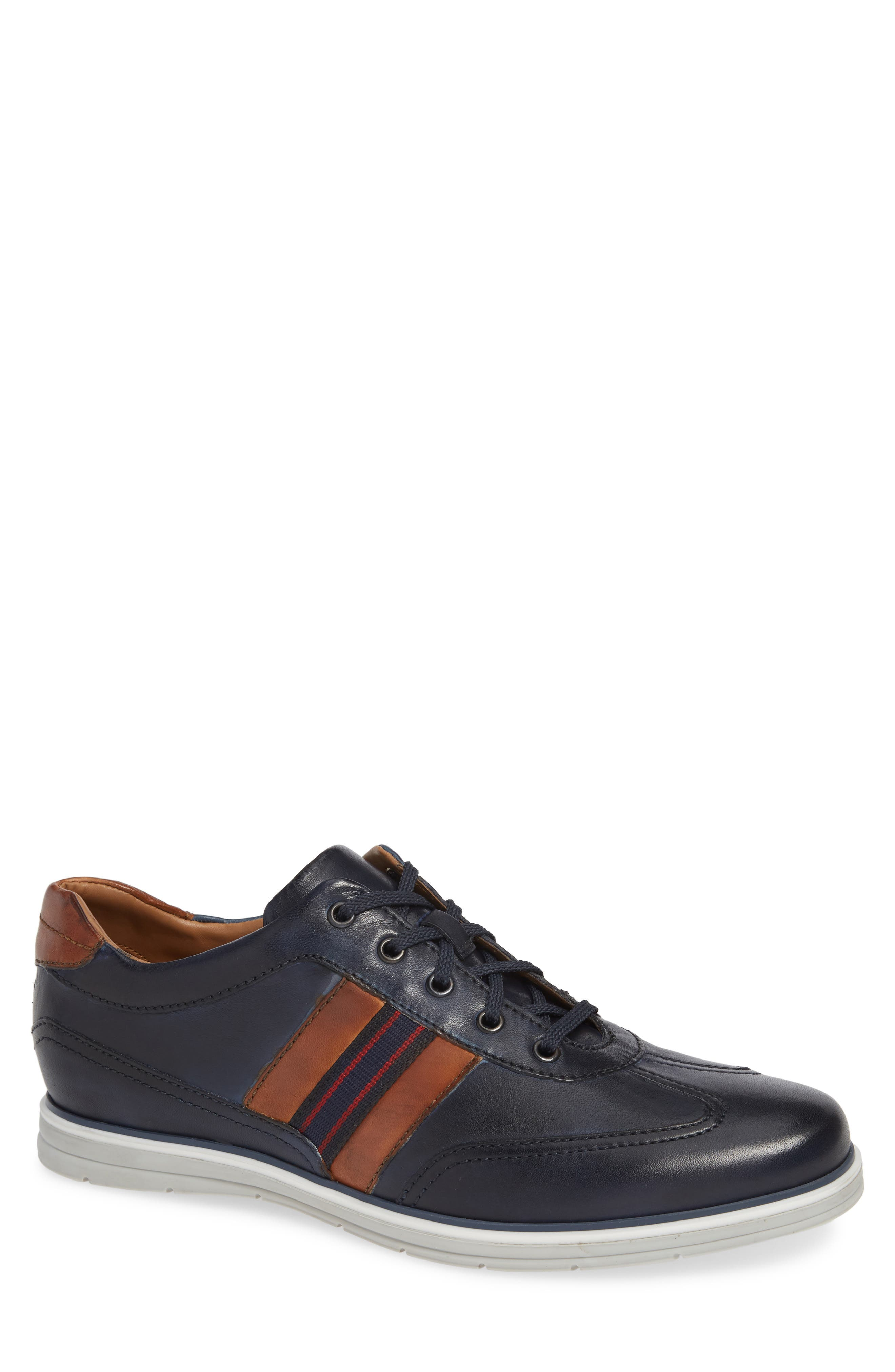 Mens Vintage Style Shoes & Boots| Retro Classic Shoes Mens Robert Talbott Turbo Low Top Sneaker $295.00 AT vintagedancer.com