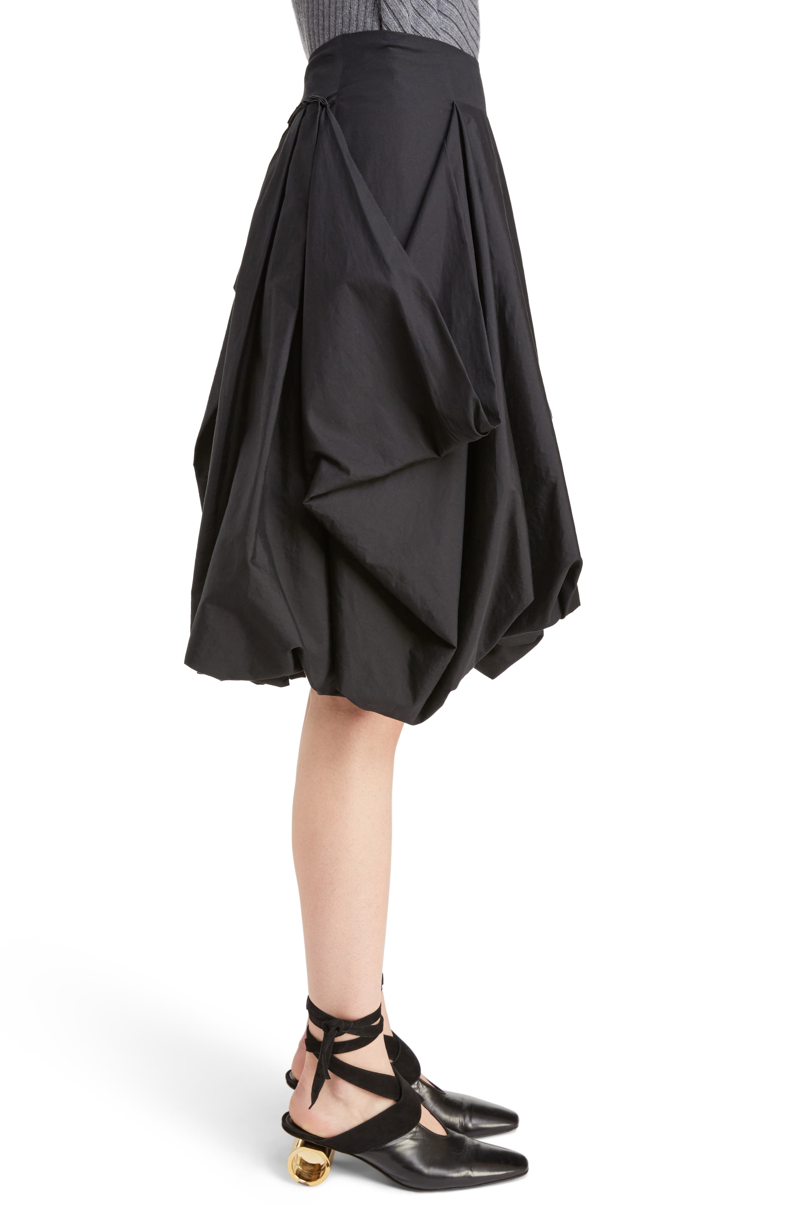 J.W.ANDERSON Drape Pockets Pleated Skirt,                             Alternate thumbnail 3, color,                             001
