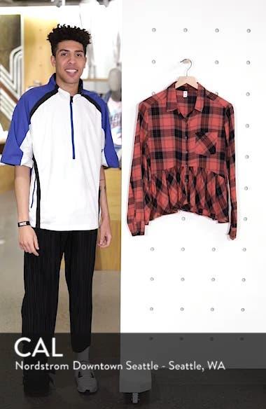 Plaid Peplum Shirt, sales video thumbnail