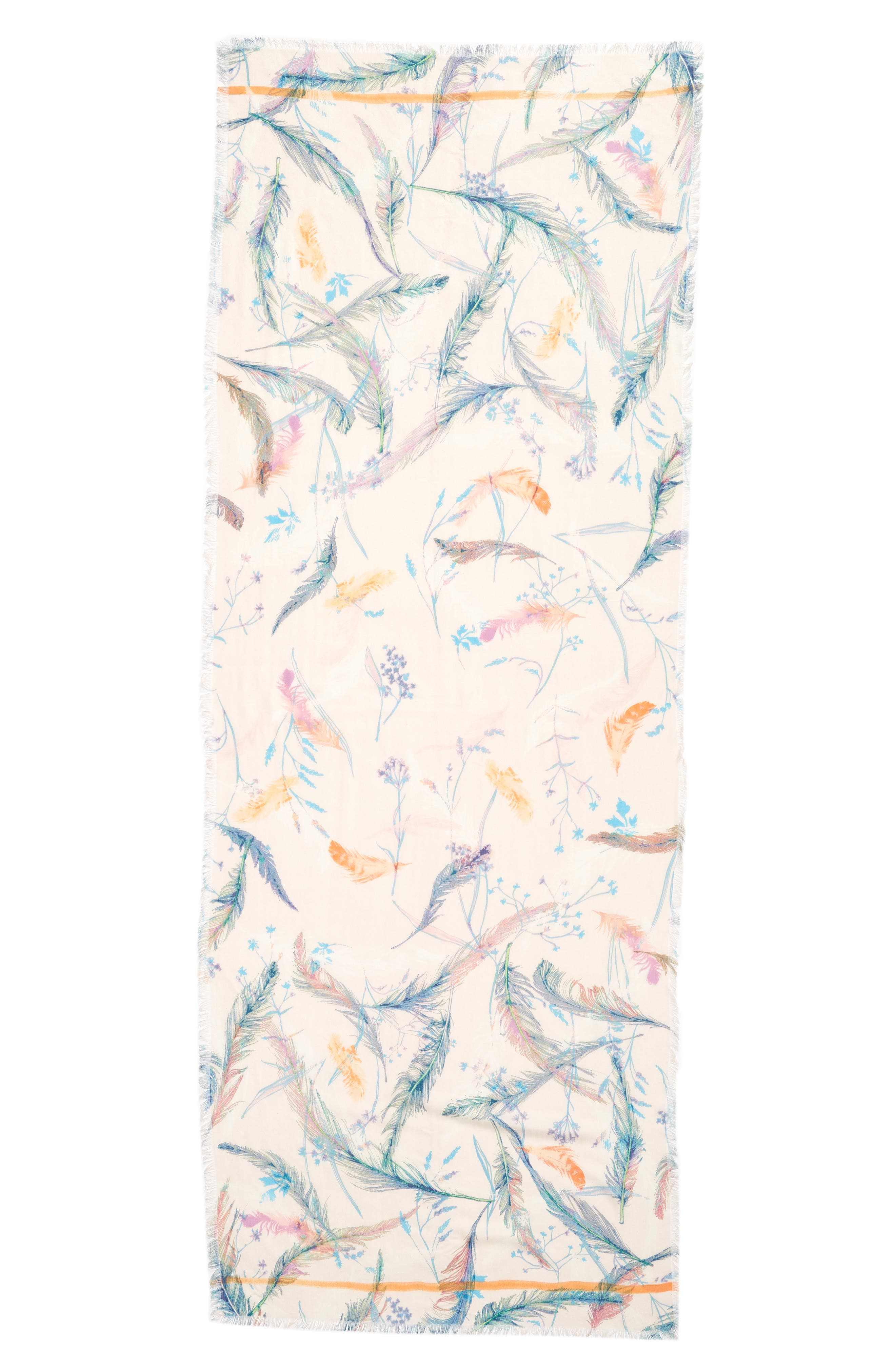 Eyelash Trim Print Cashmere & Silk Wrap,                             Alternate thumbnail 91, color,