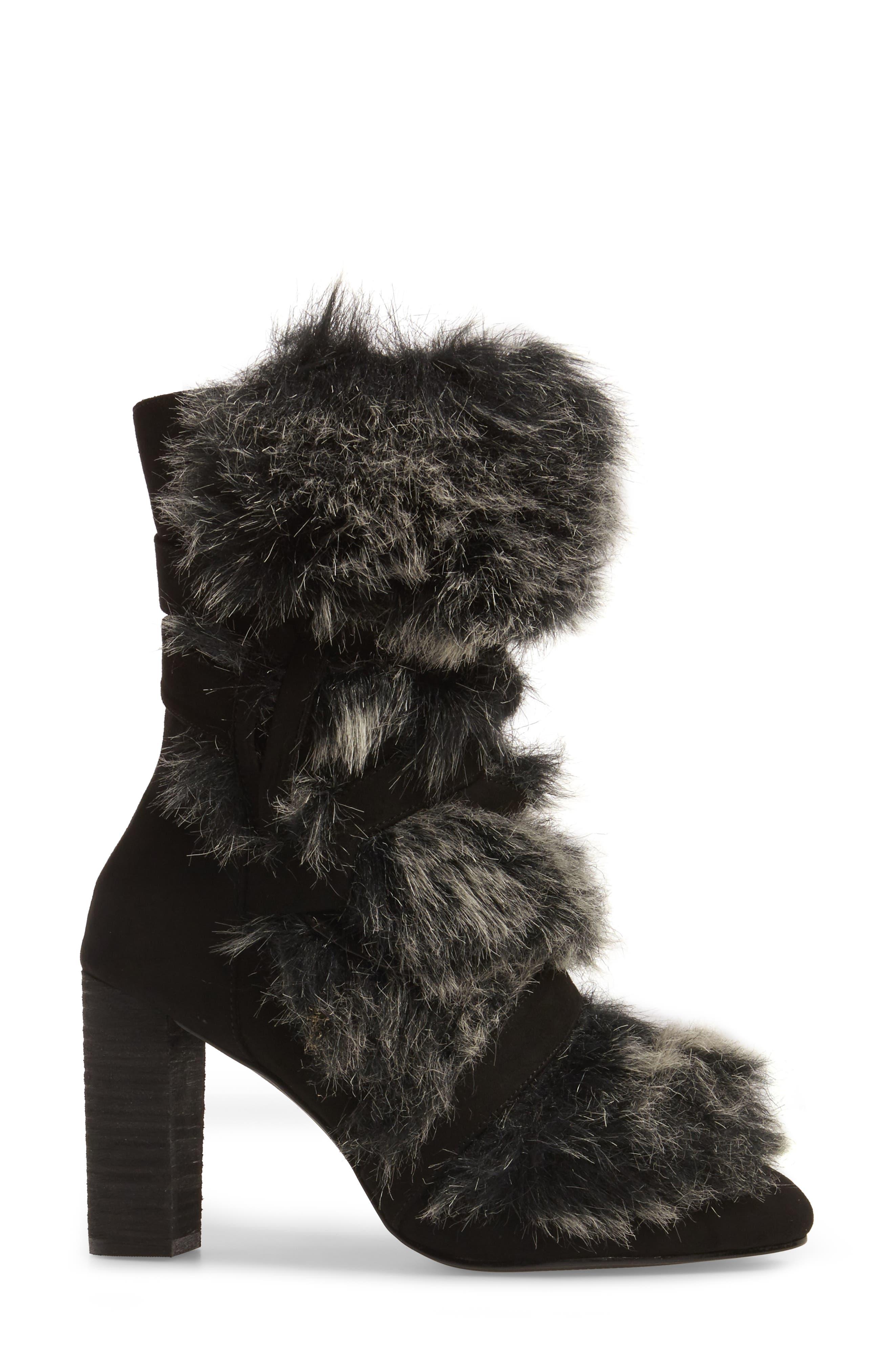 Alberta Faux Fur Boot,                             Alternate thumbnail 3, color,                             001